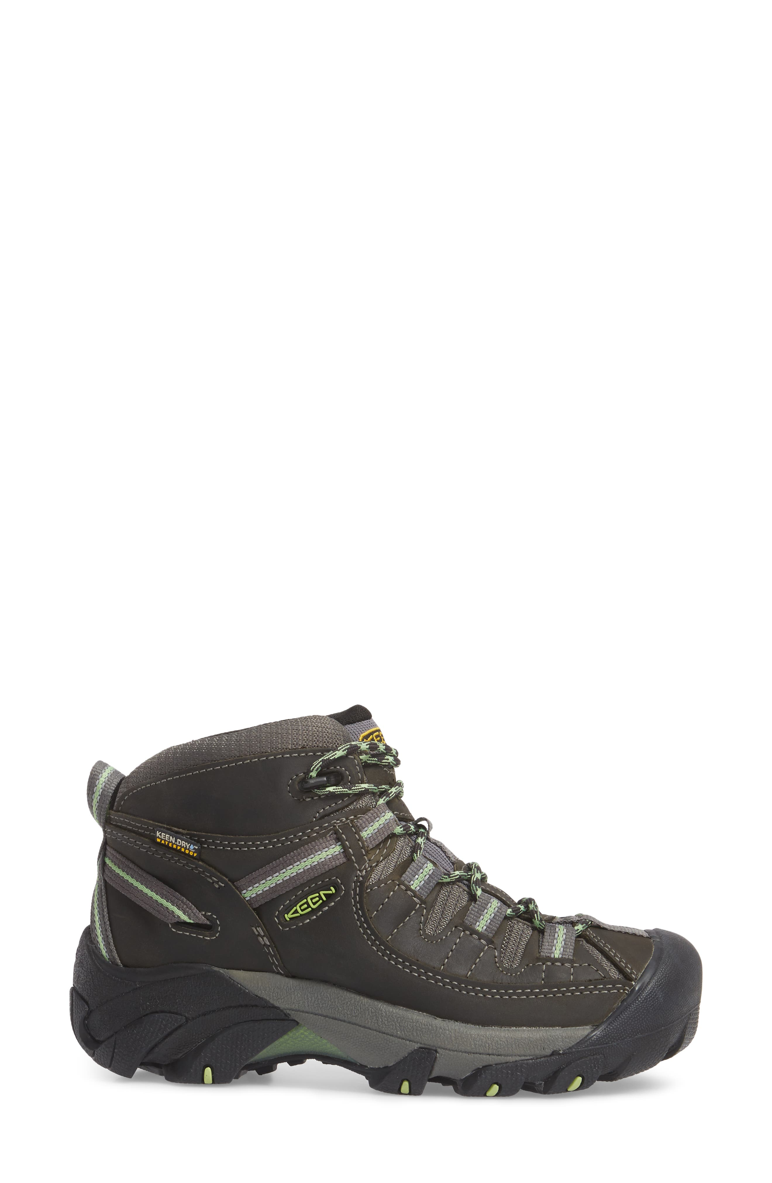KEEN, Targhee II Mid Waterproof Hiking Boot, Alternate thumbnail 3, color, RAVEN/ OPALINE