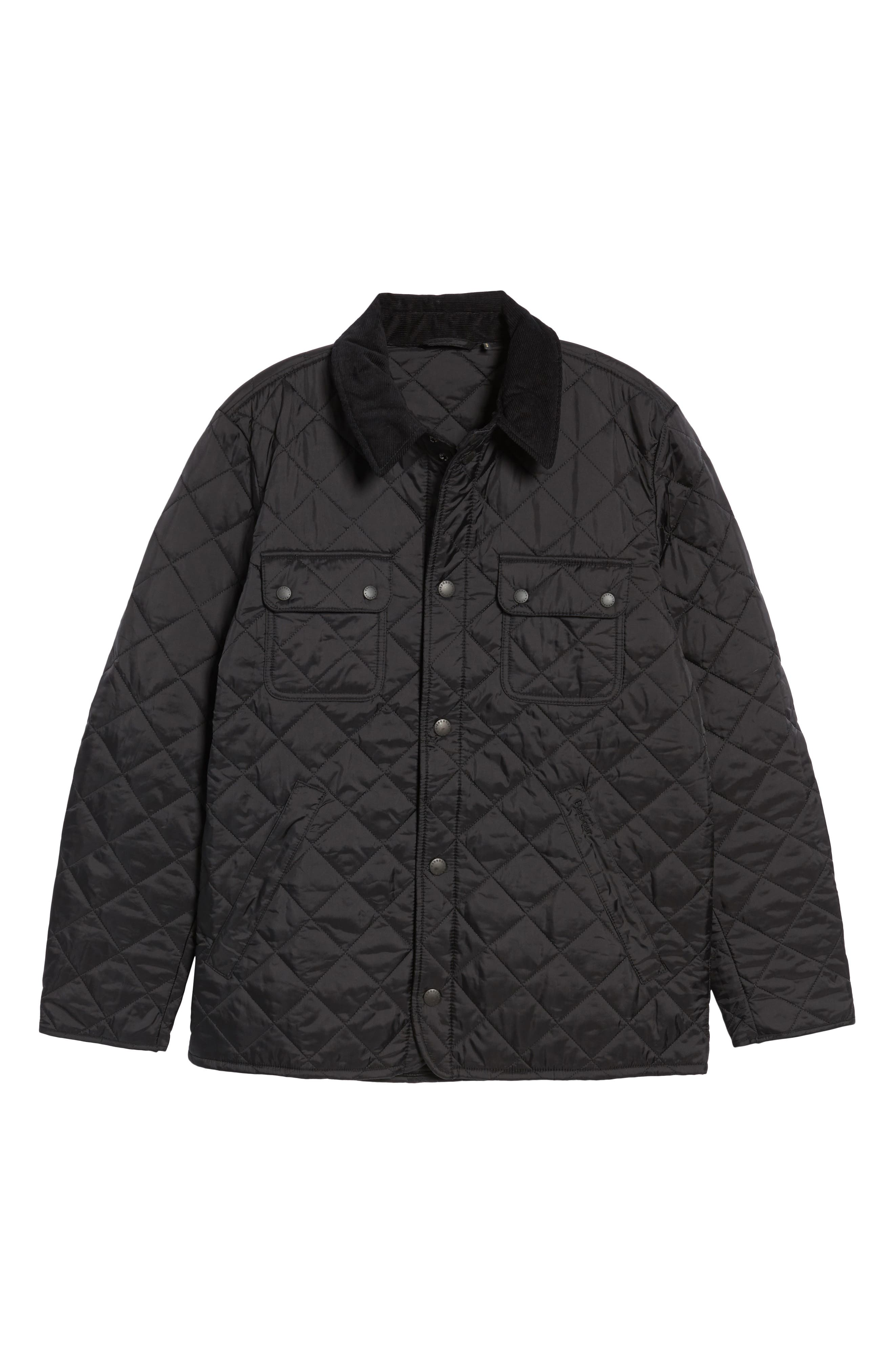 BARBOUR, 'Tinford' Regular Fit Quilted Jacket, Main thumbnail 1, color, 001