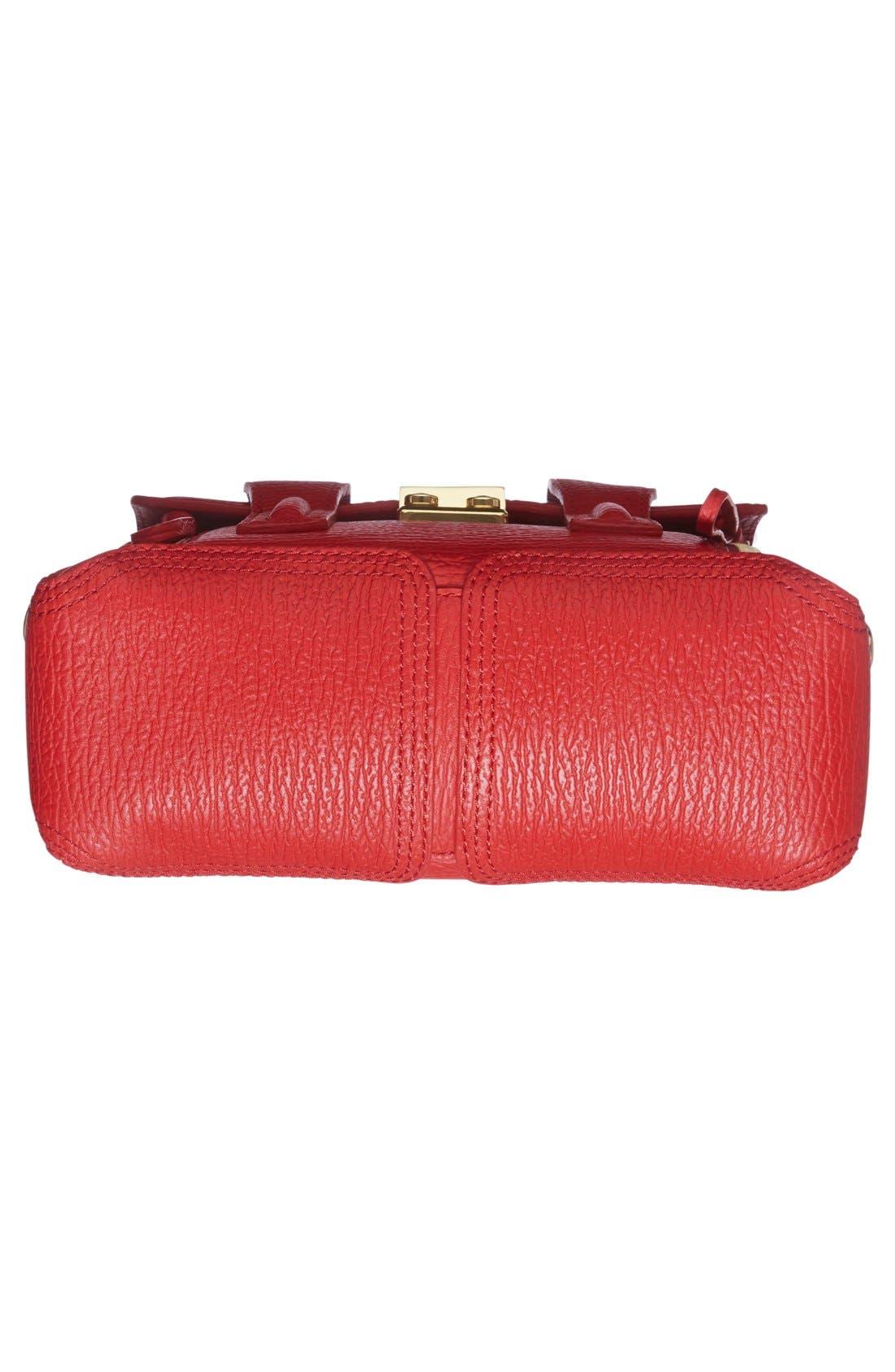 3.1 PHILLIP LIM, 'Mini Pashli' Leather Satchel, Alternate thumbnail 6, color, 600