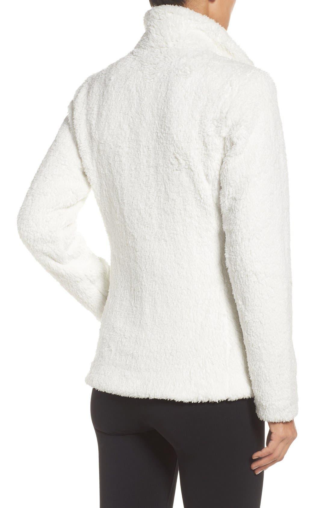 PATAGONIA, Los Gatos Fleece Jacket, Alternate thumbnail 5, color, BIRCH WHITE