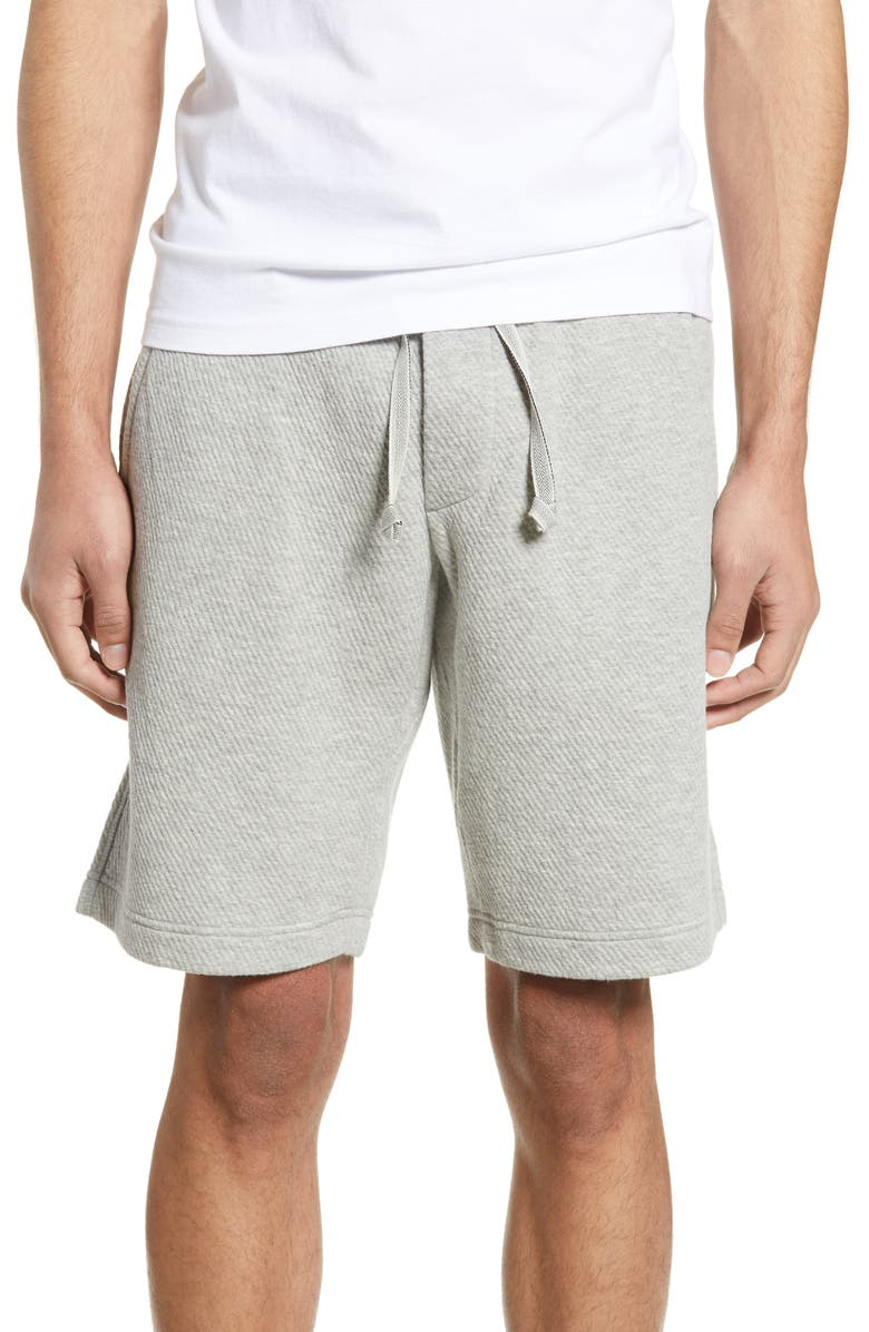 Wings + Horns Shorts VENTED PULL-ON COTTON BLEND SHORTS