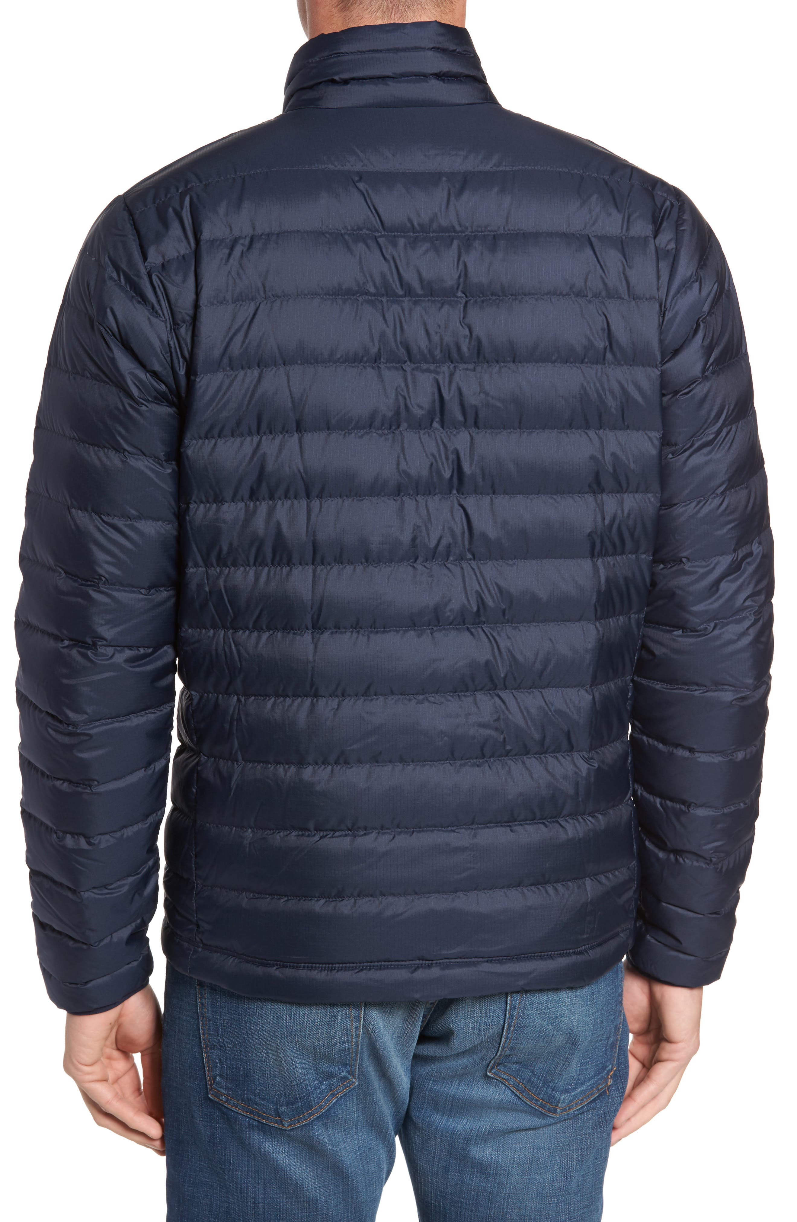 PATAGONIA, Water Repellent Down Jacket, Alternate thumbnail 2, color, NAVY BLUE W/ NAVY BLUE