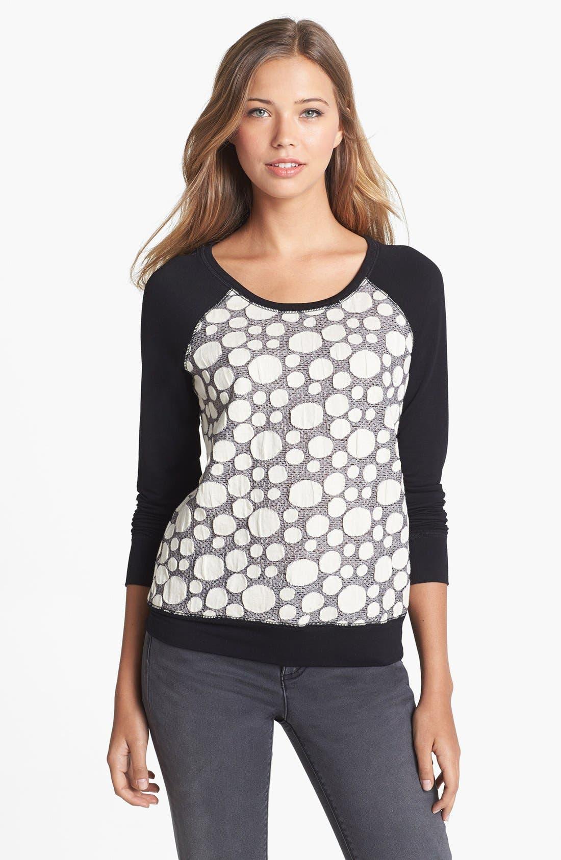 OLIVIA MOON, Textured Sweatshirt, Main thumbnail 1, color, 031