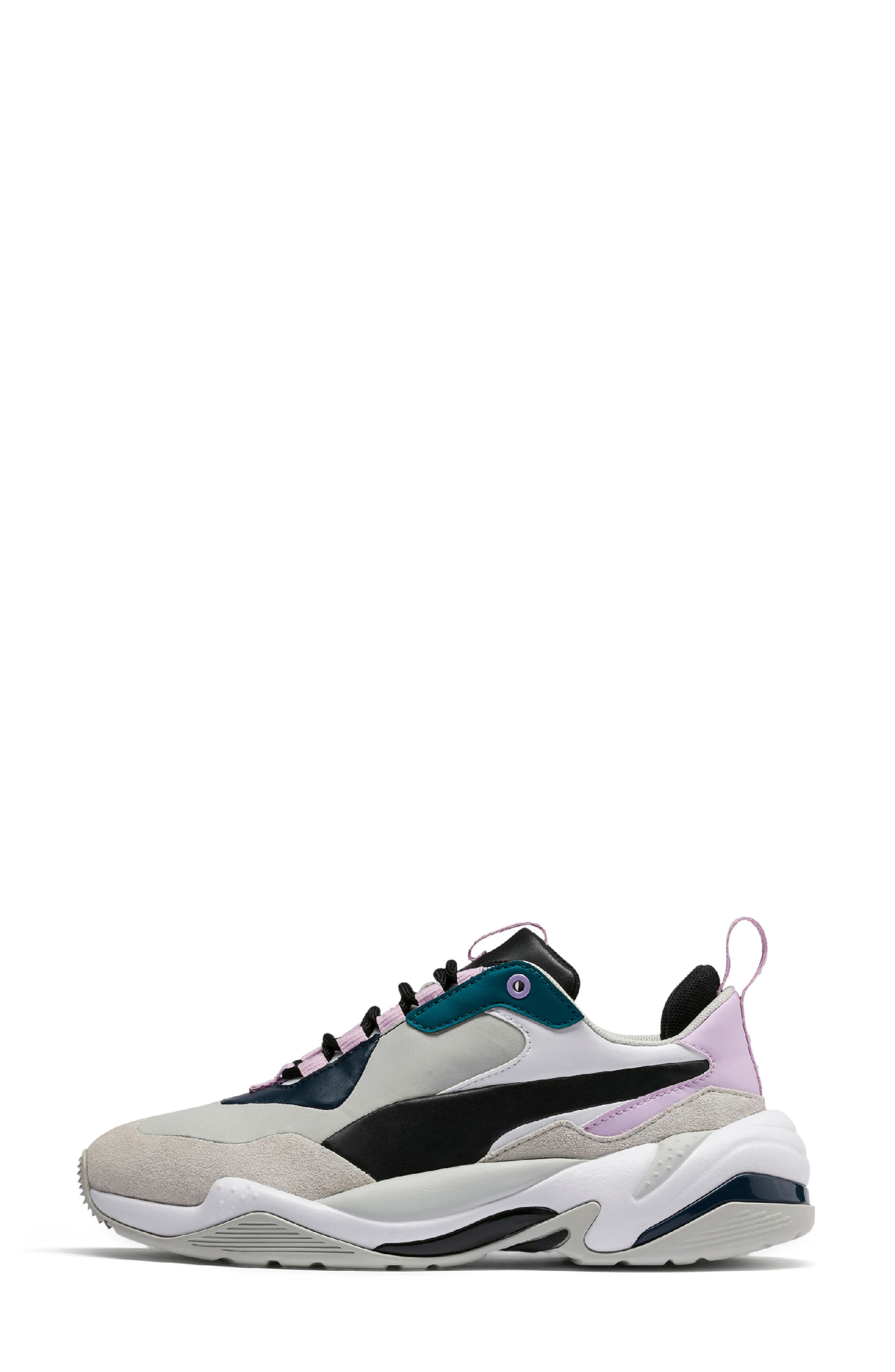 PUMA, Thunder Electric Sneaker, Alternate thumbnail 7, color, DEEP LAGOON/ ORCHID BLOOM