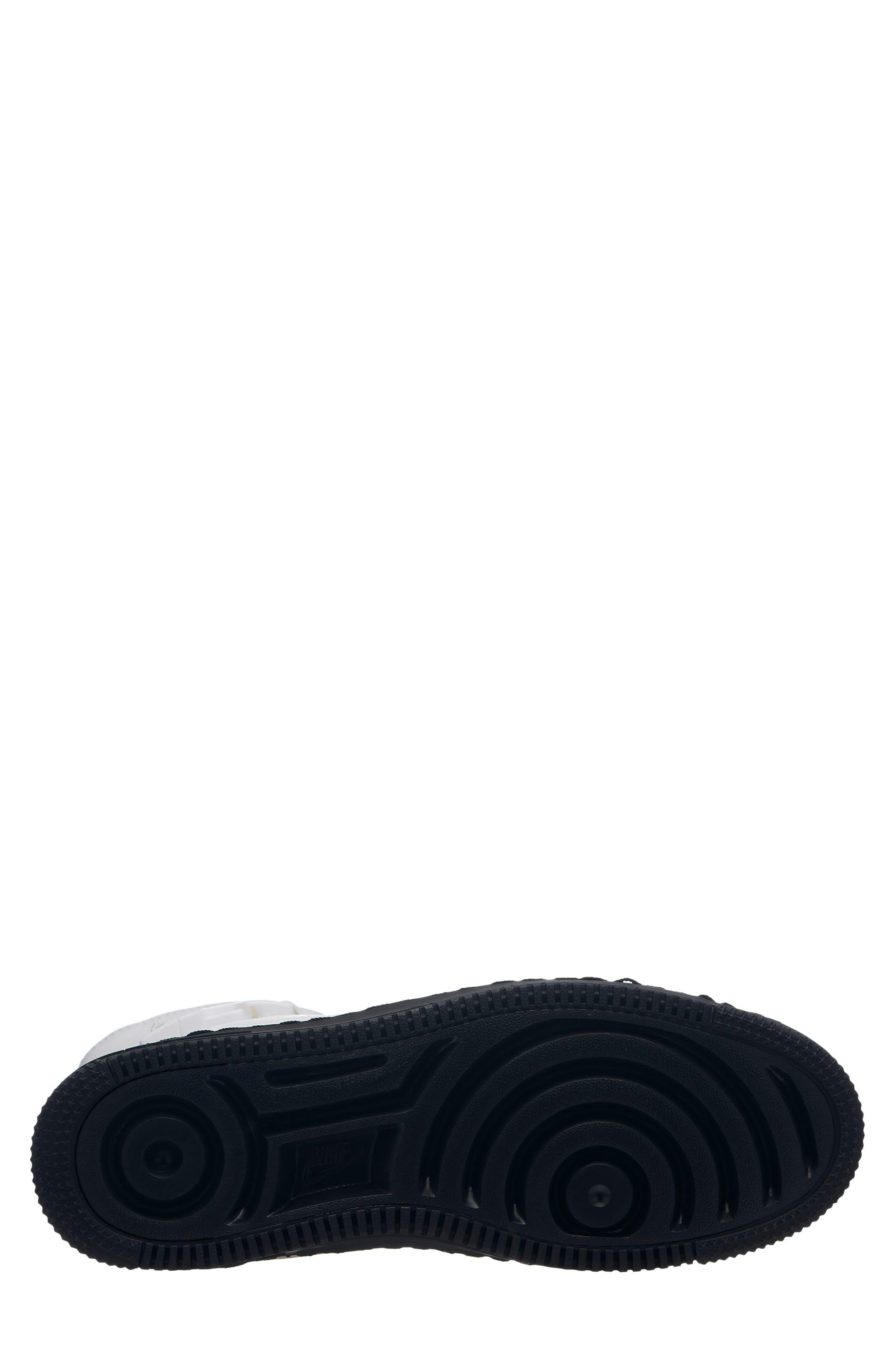 NIKE, Air Force 1 Sage High Platform Sneaker, Alternate thumbnail 2, color, WHITE/ WHITE/ BLACK