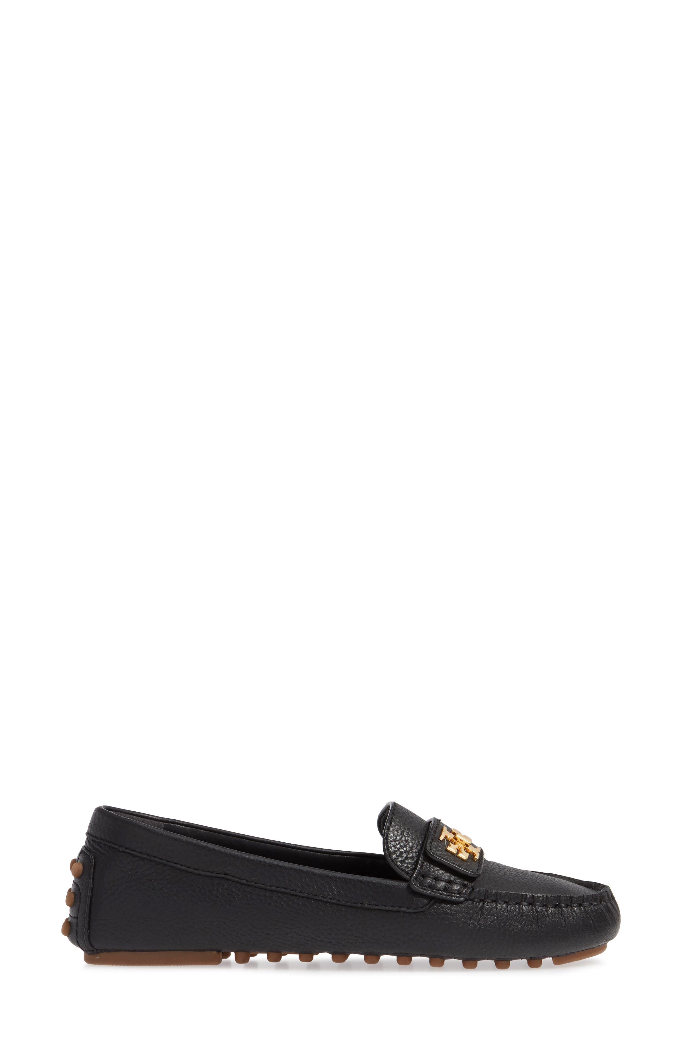 TORY BURCH, Kira Driving Loafer, Alternate thumbnail 3, color, PERFECT BLACK