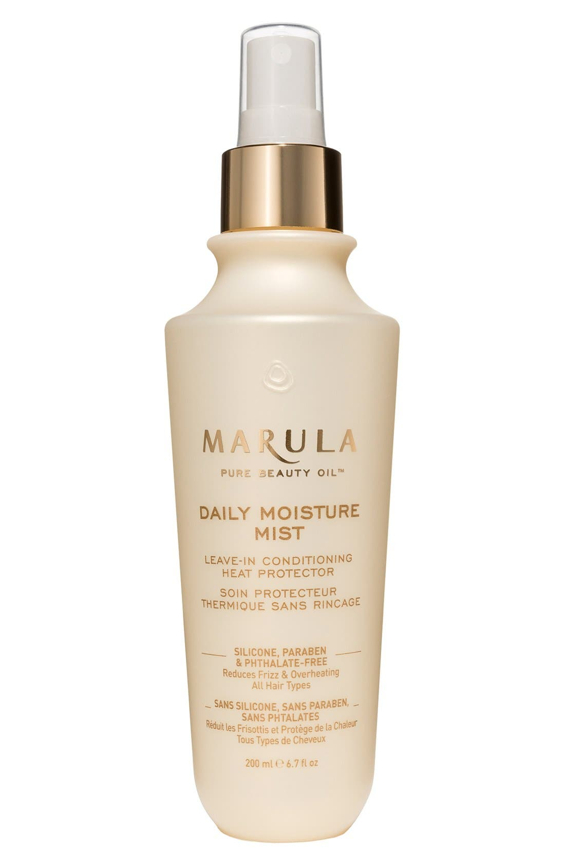 MARULA, Pure Beauty Oil Daily Moisture Mist Leave-In Conditioning Heat Protector, Main thumbnail 1, color, 000