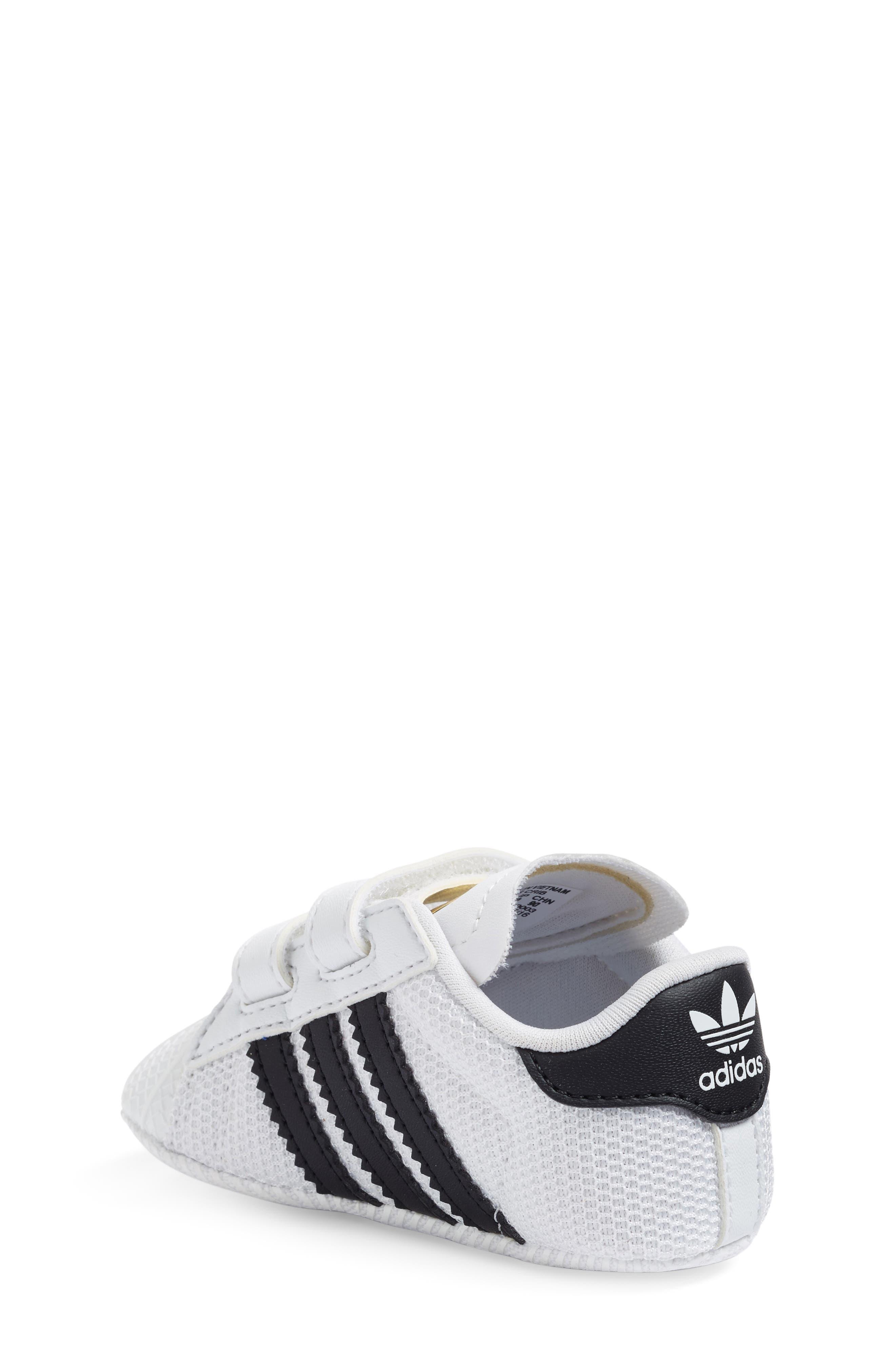 ADIDAS, Superstar Sneaker, Alternate thumbnail 2, color, WHITE/ BLACK