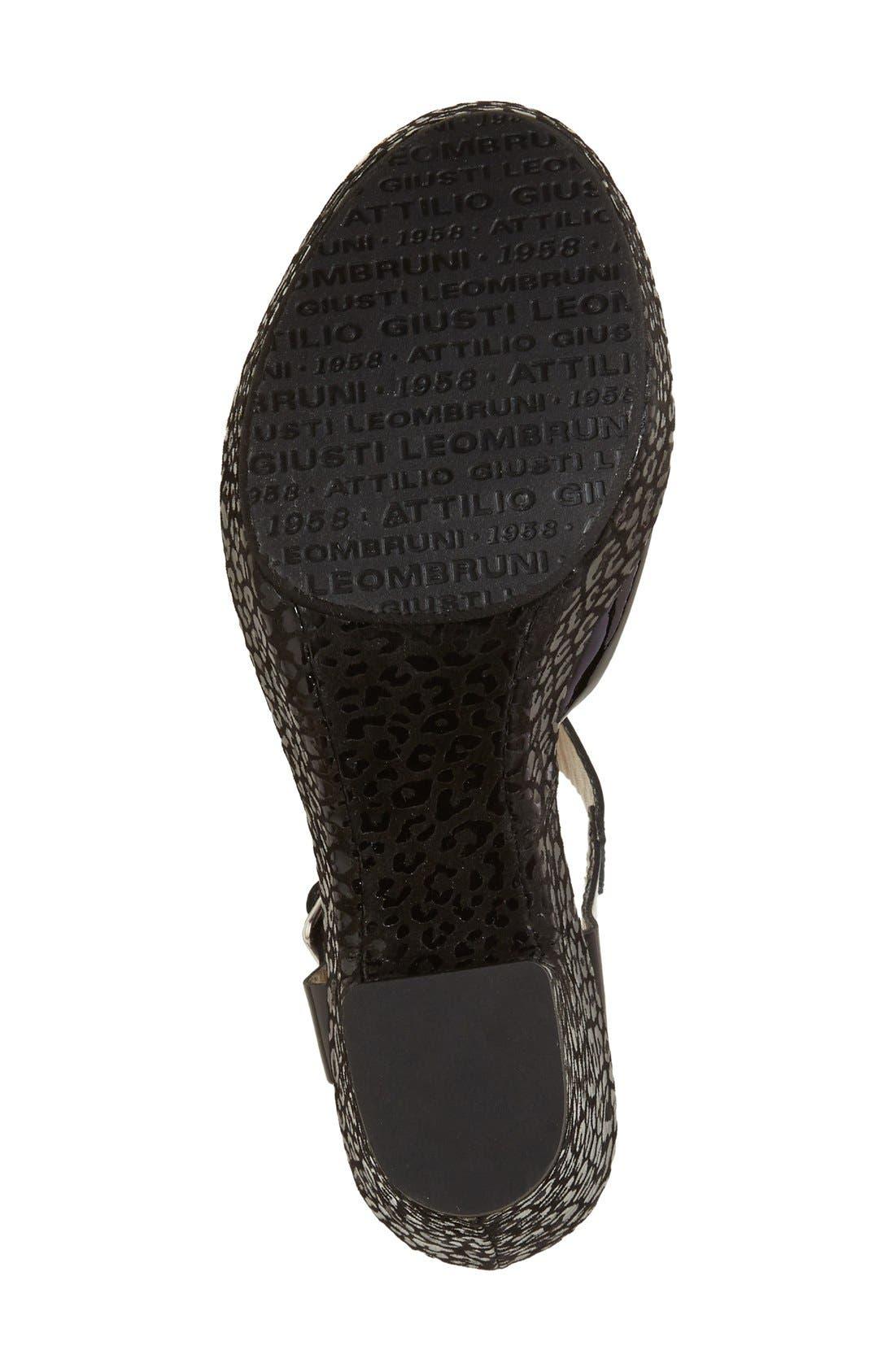 AGL, 'Sylvia' Platform Wedge Sandal, Alternate thumbnail 3, color, 001