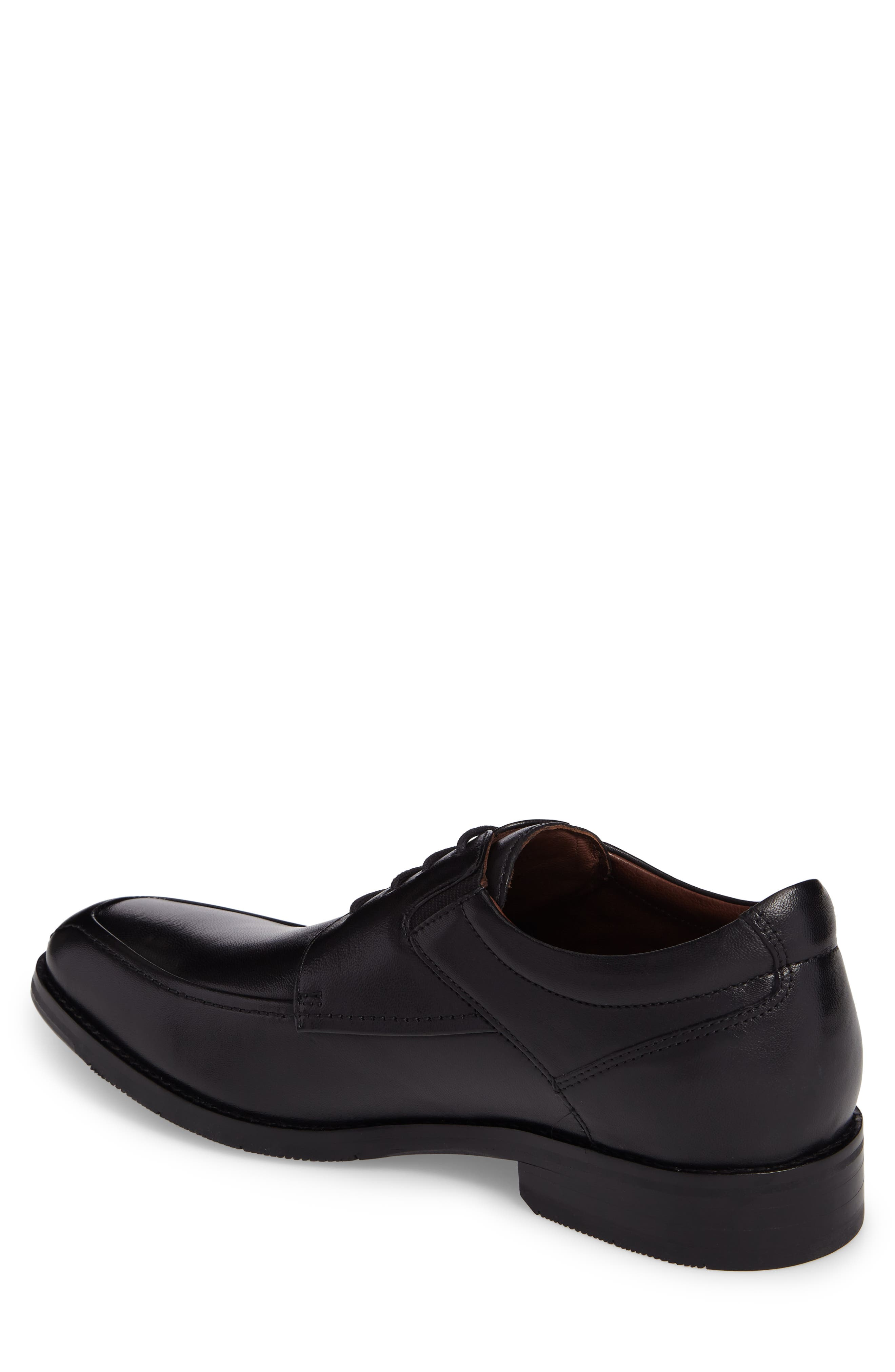 JOHNSTON & MURPHY, Apron Toe Derby, Alternate thumbnail 2, color, BLACK