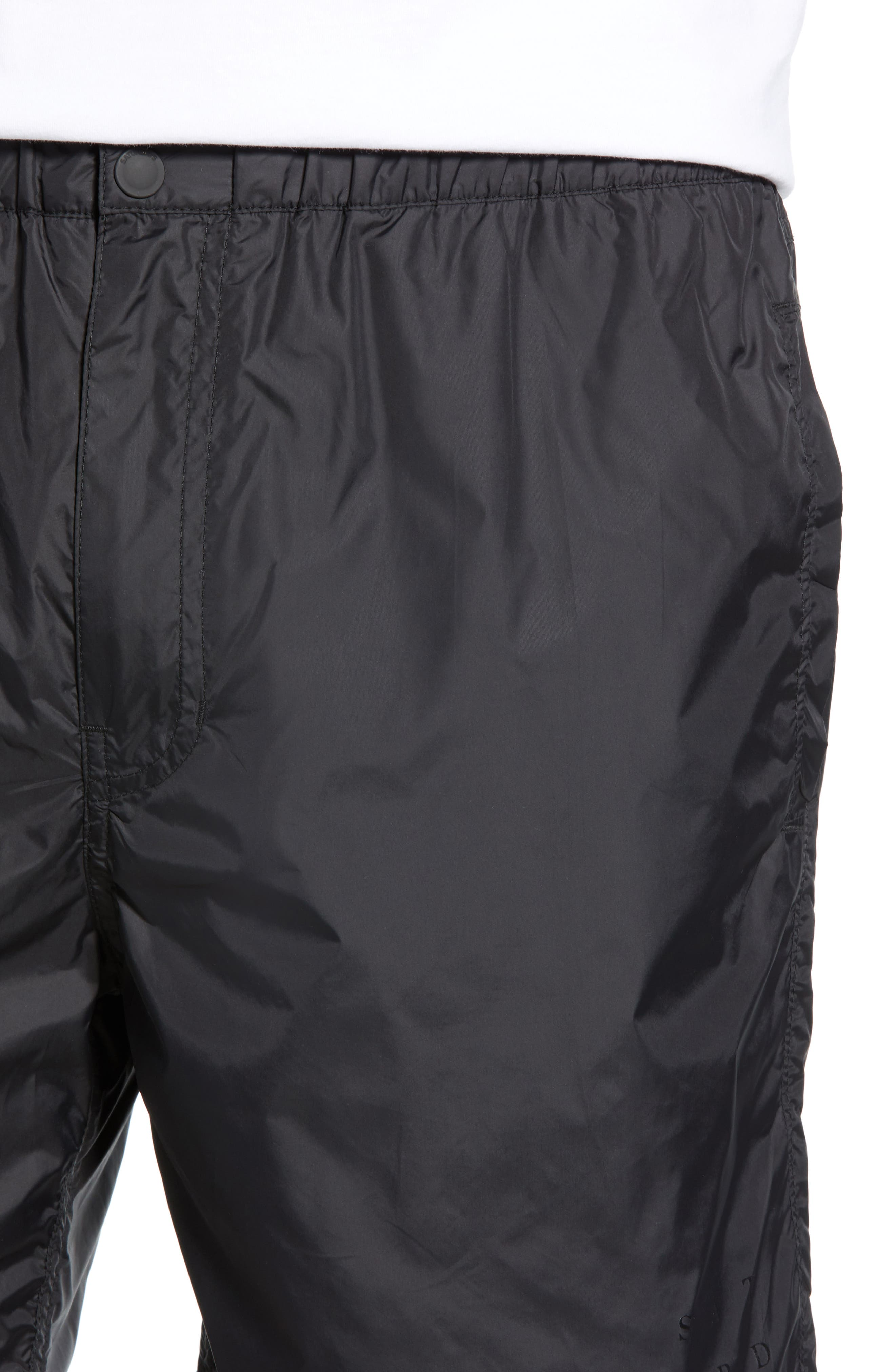 SATURDAYS NYC, Trent Hybrid Athletic Shorts, Alternate thumbnail 4, color, BLACK
