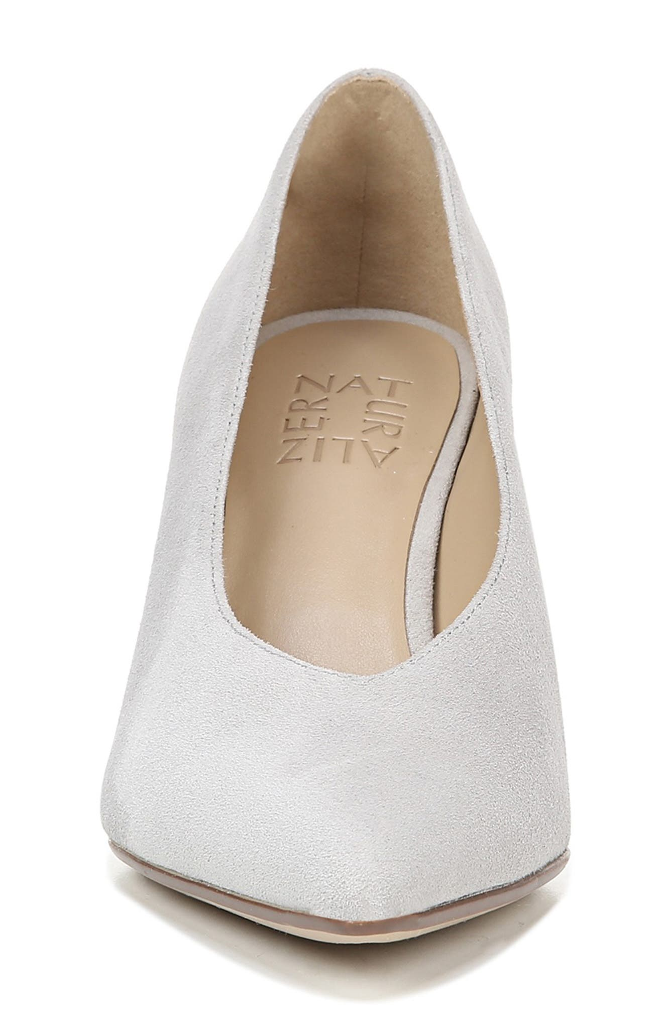 NATURALIZER, Hope Pointy Toe Pump, Alternate thumbnail 4, color, ICY GREY SUEDE
