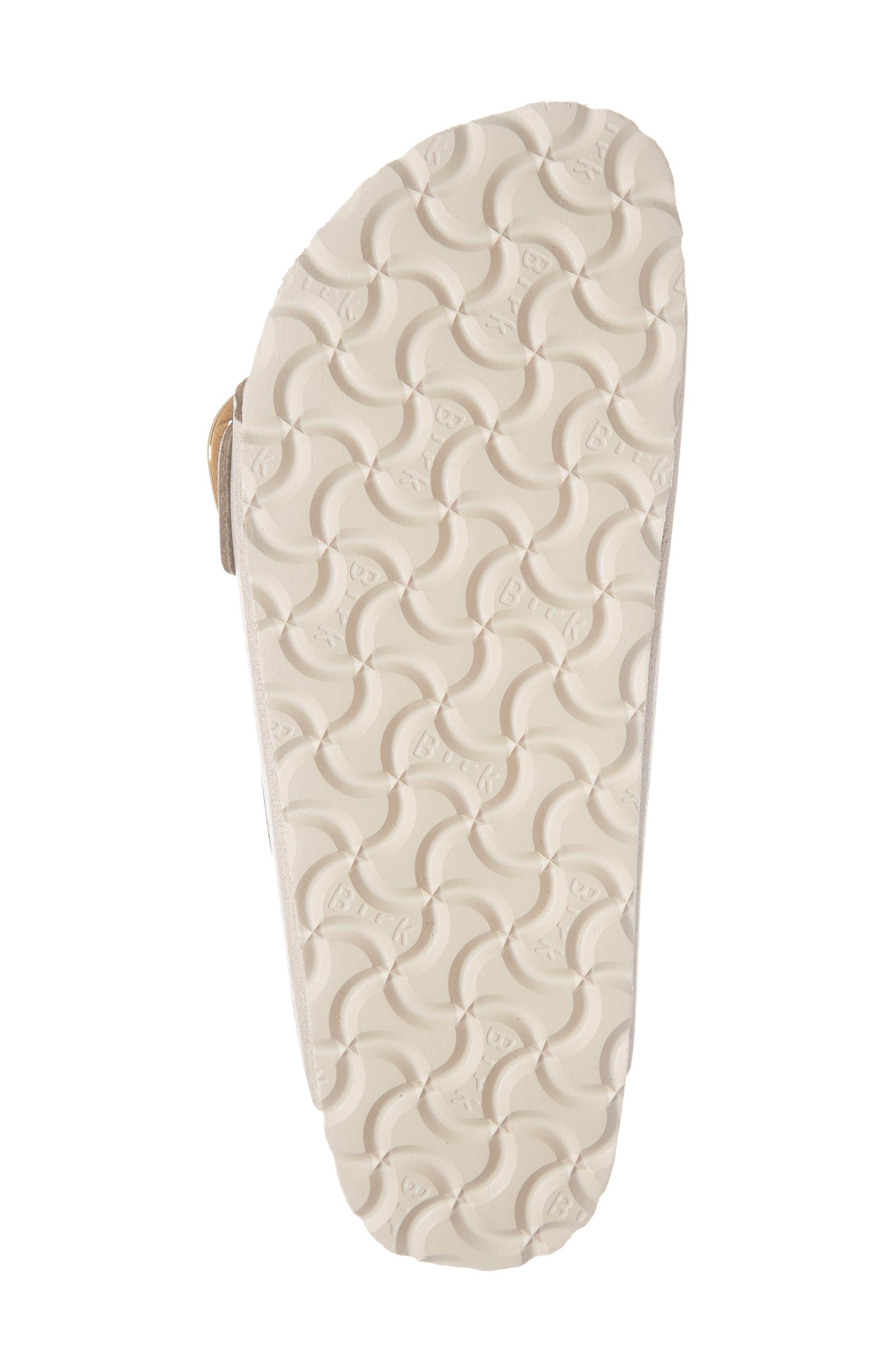BIRKENSTOCK, Arizona Big Buckle Slide Sandal, Alternate thumbnail 6, color, WASHED METALLIC ROSE LEATHER