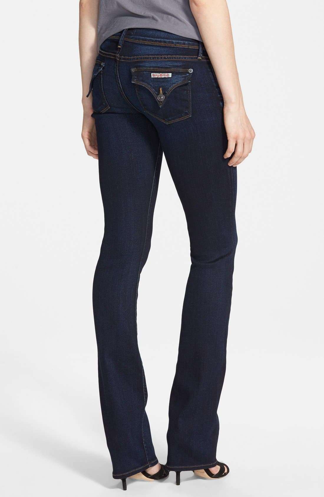 HUDSON JEANS, 'Elysian - Beth' Baby Bootcut Jeans, Alternate thumbnail 2, color, ORACLE