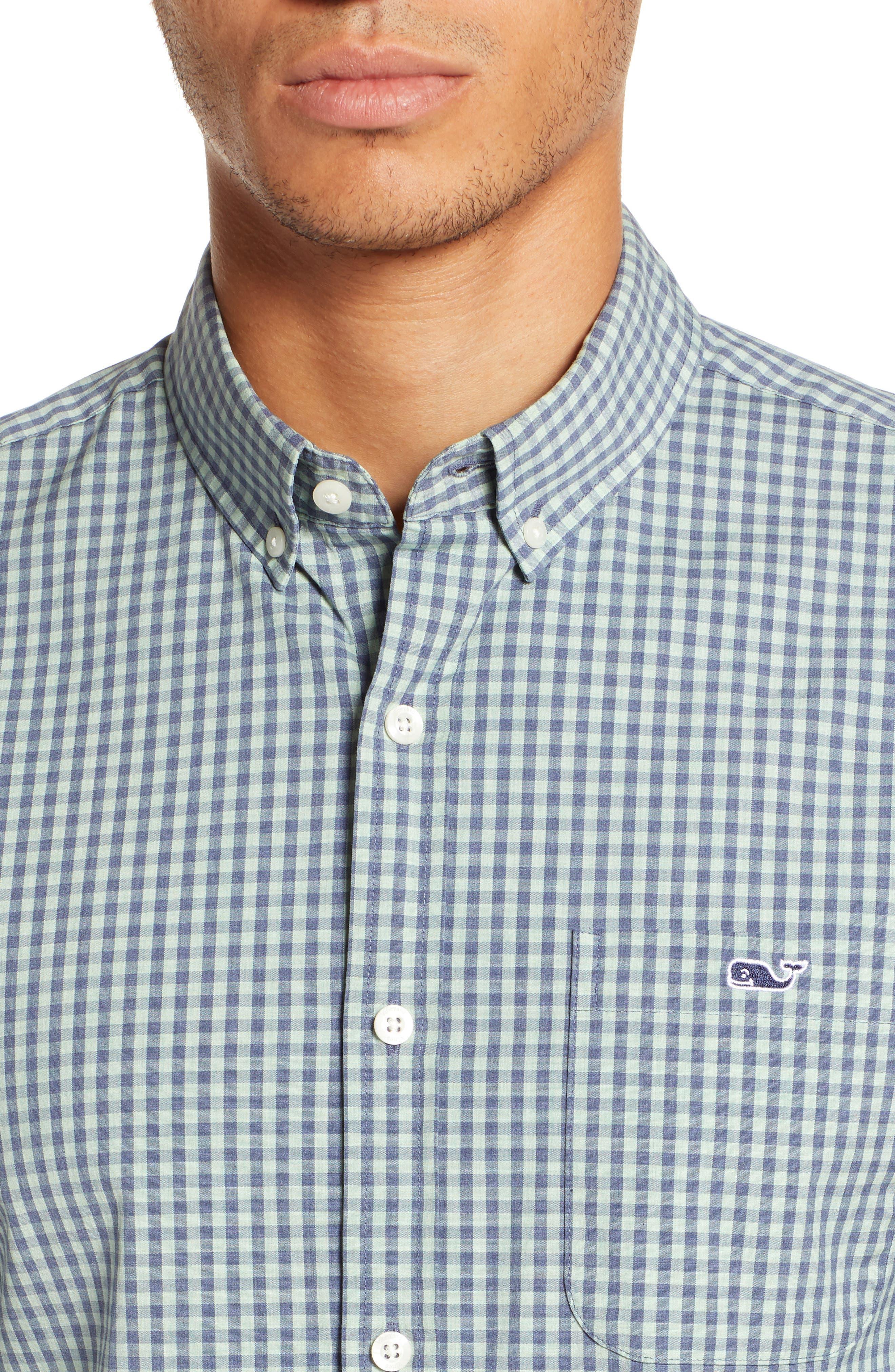 VINEYARD VINES, Gingham Check Sport Shirt, Alternate thumbnail 2, color, 362