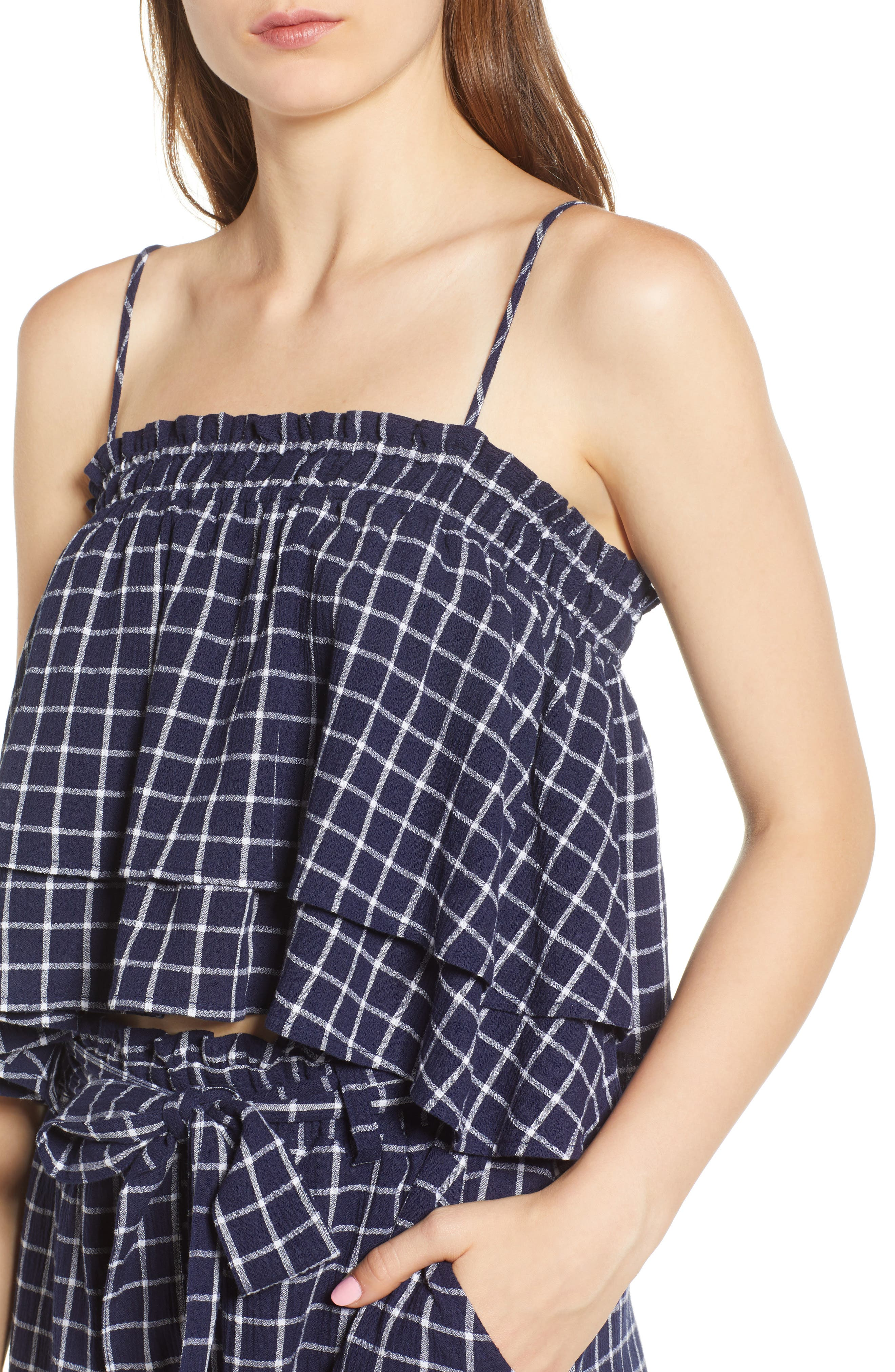 BP., Plaid Tiered Tank, Alternate thumbnail 4, color, 401
