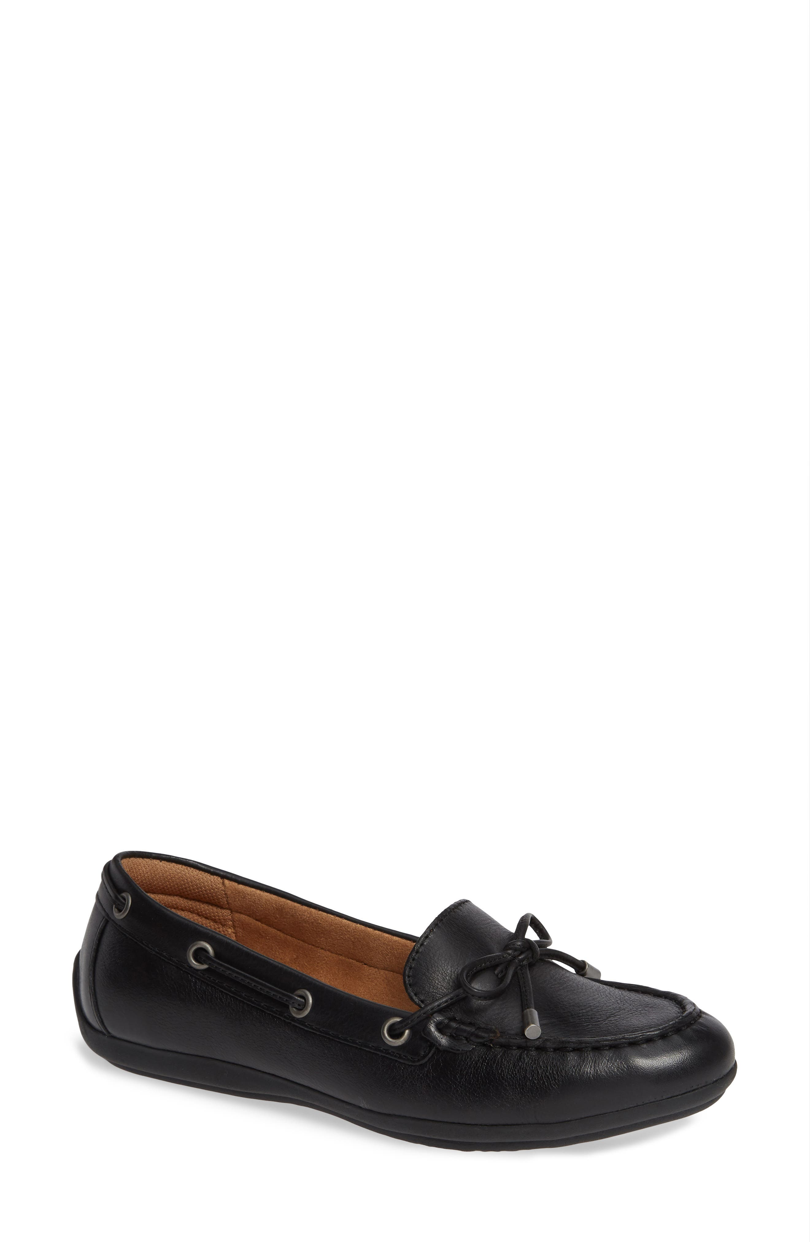 COMFORTIVA, Mindy Loafer, Main thumbnail 1, color, BLACK