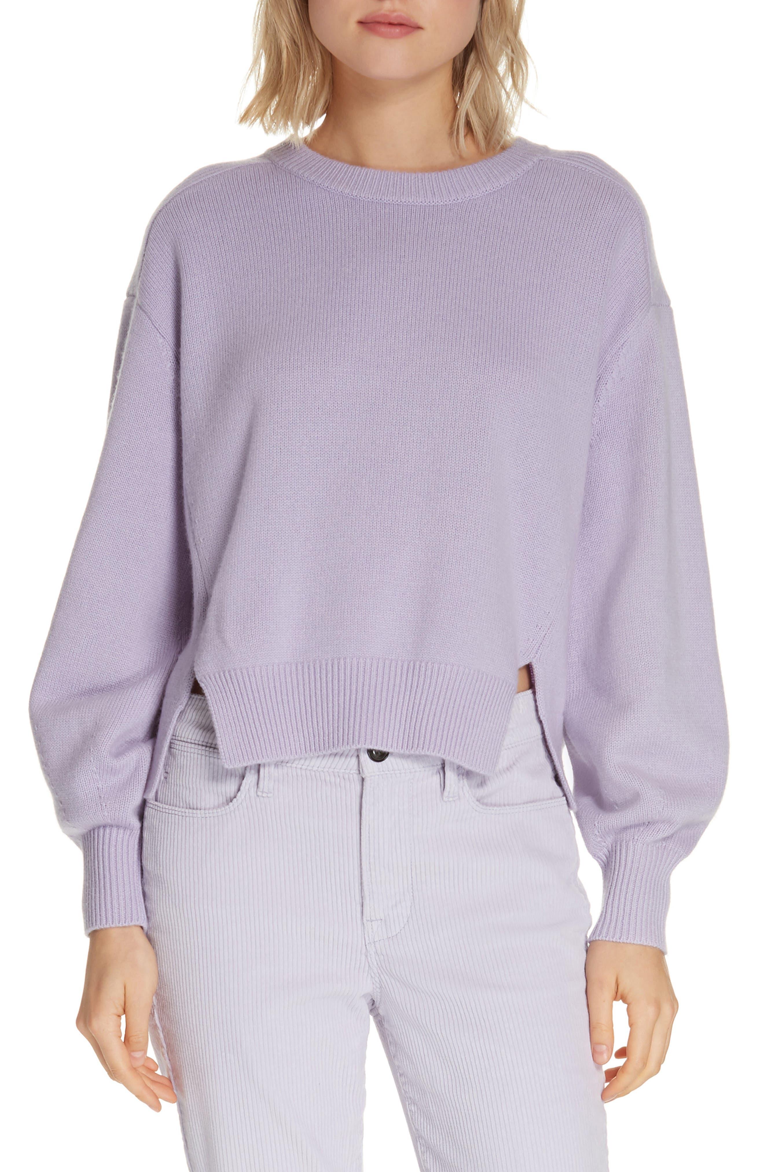 Frame Swing Wool & Cashmere Sweater, Purple