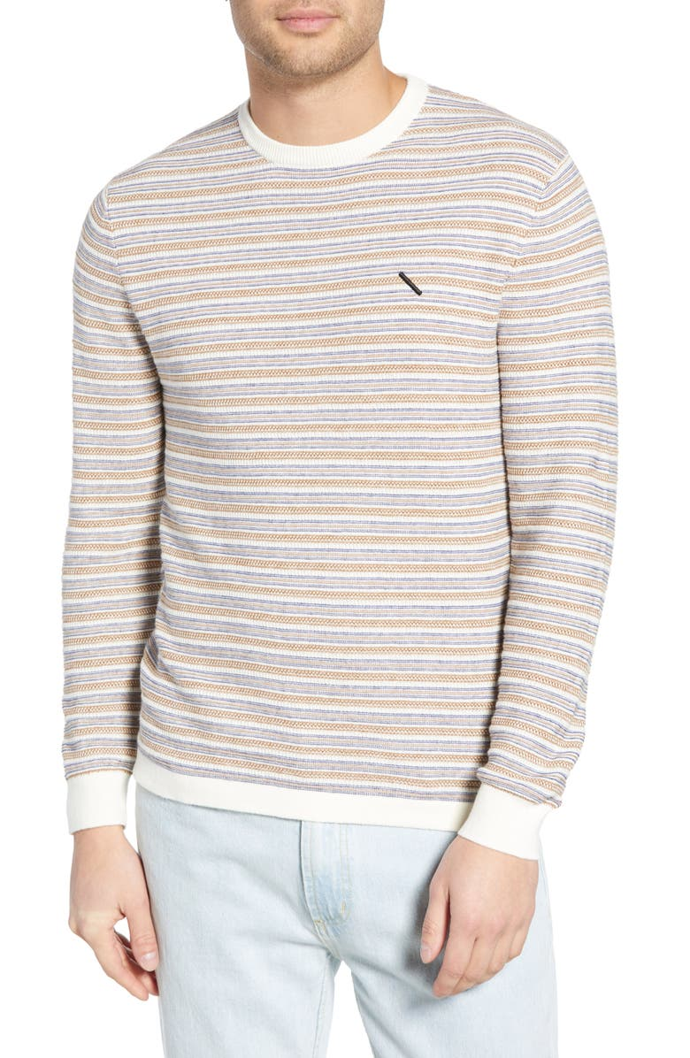 Saturdays Surf Nyc Sweaters LEE STRIPE CREWNECK SWEATER