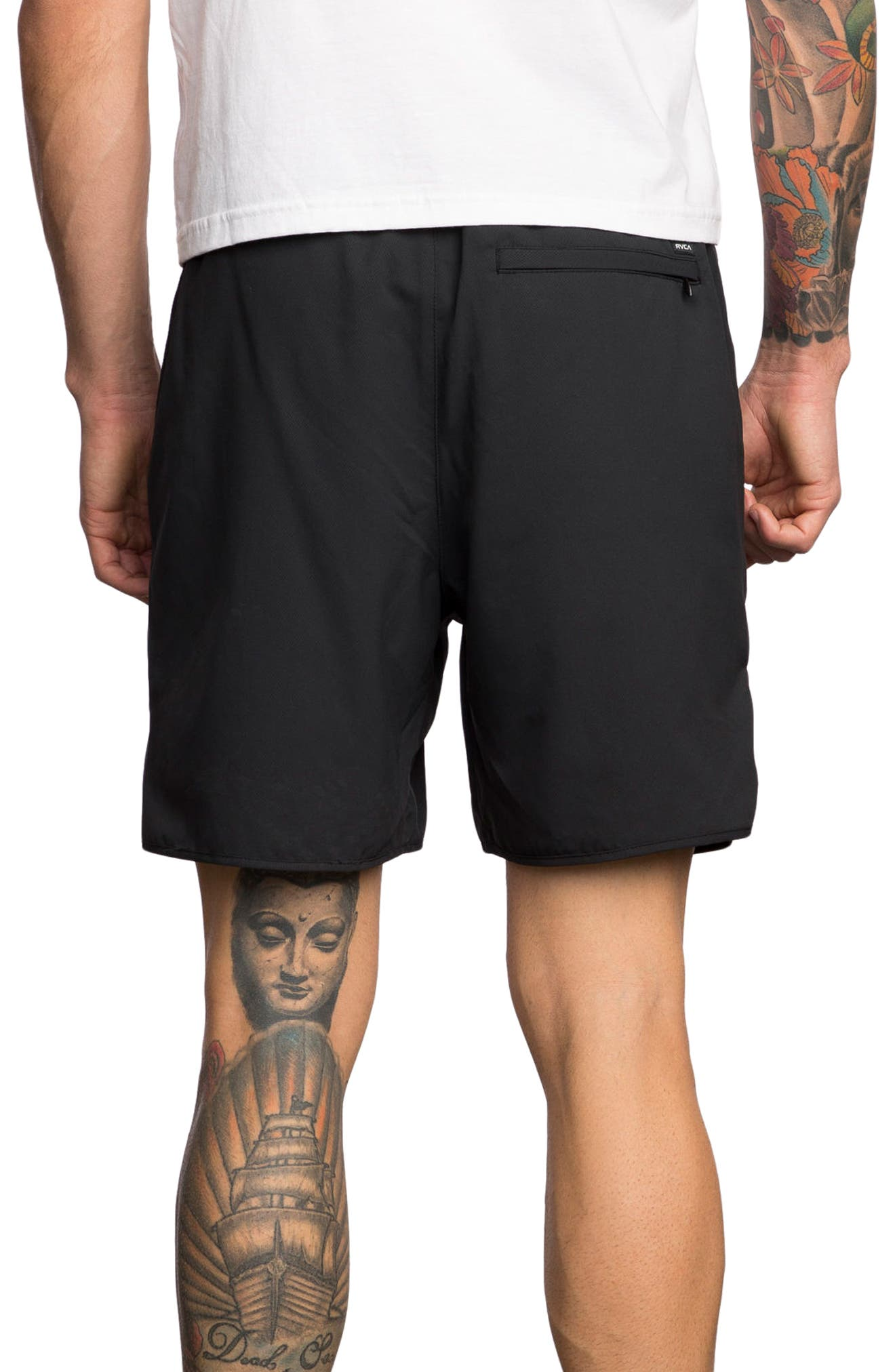 RVCA, Yogger III Athletic Shorts, Alternate thumbnail 2, color, 001