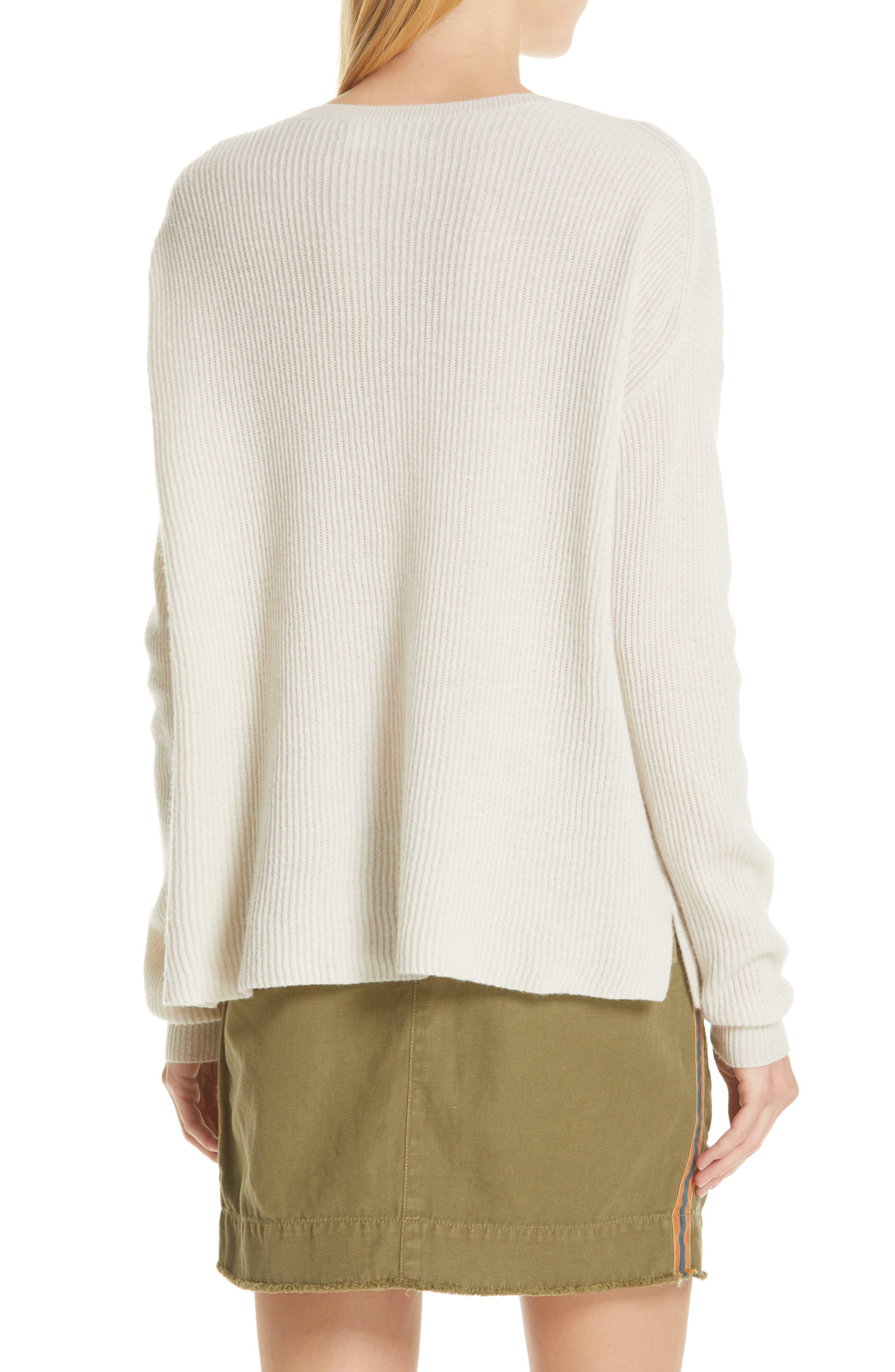 NILI LOTAN, Hadis Cashmere Sweater, Alternate thumbnail 2, color, IVORY