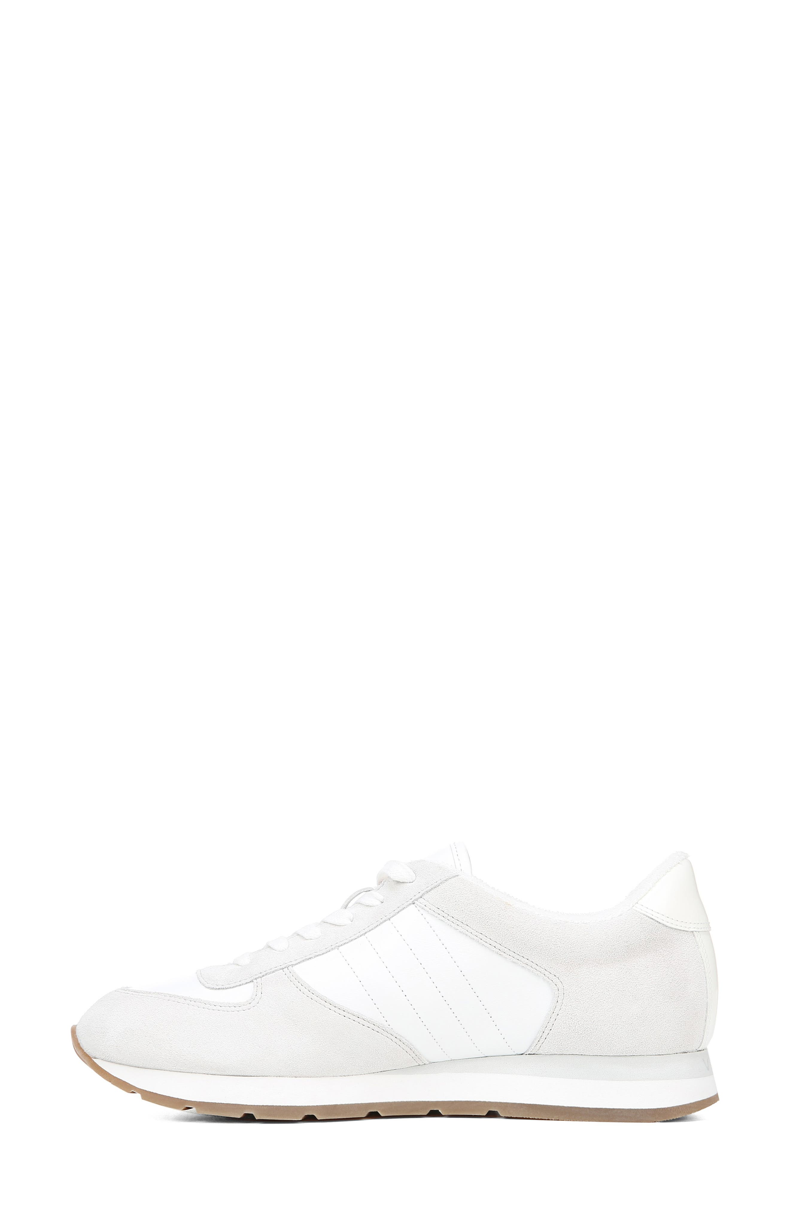 VINCE, Pasha Sneaker, Alternate thumbnail 8, color, WHITE