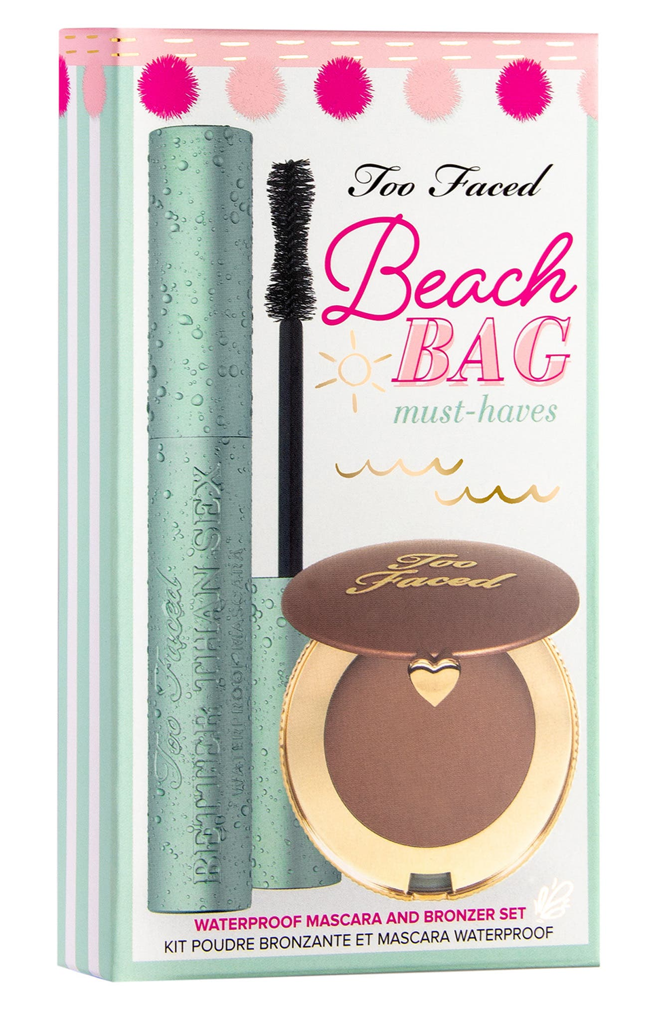 TOO FACED, Beach Bag Must Haves Set, Alternate thumbnail 2, color, NO COLOR