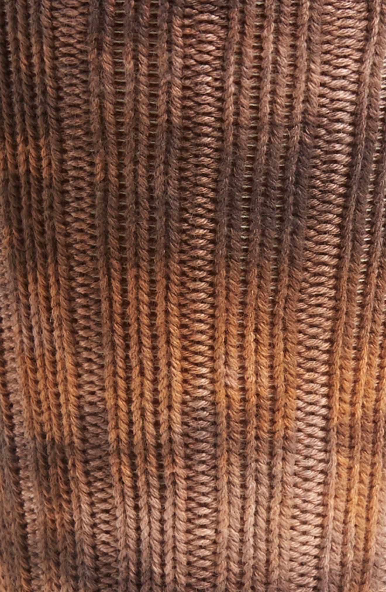 ANONYMOUS ISM, Uneven Dye Socks, Alternate thumbnail 2, color, BROWN