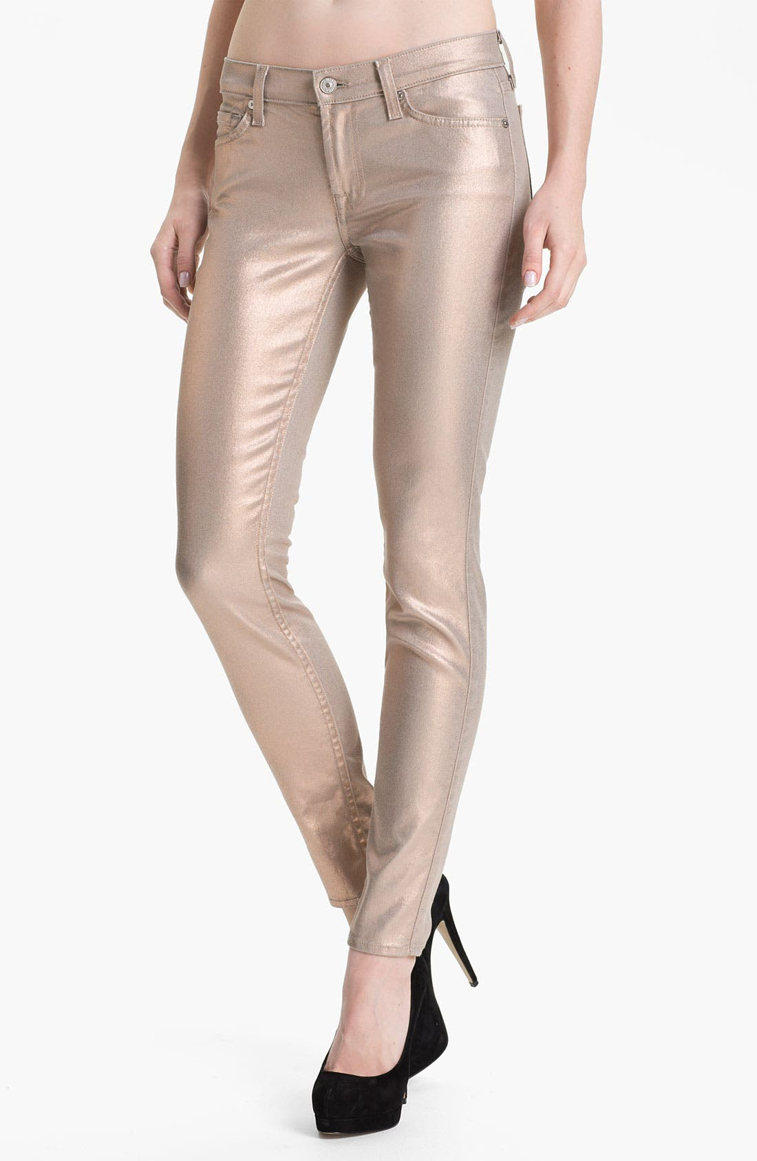 7 FOR ALL MANKIND<SUP>®</SUP> 'The Skinny' Coated Skinny Jeans, Main, color, 710