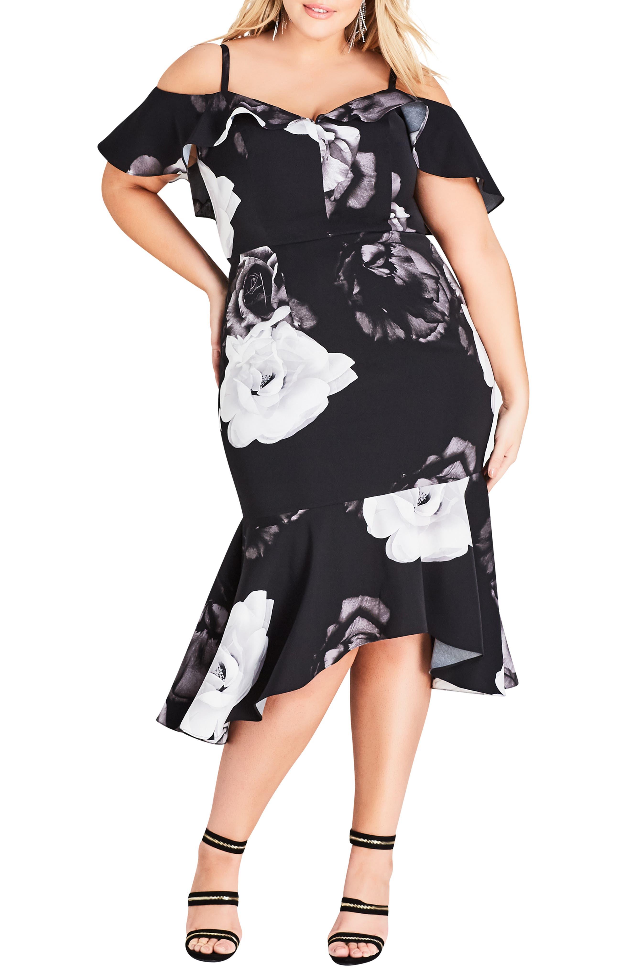 CITY CHIC Rose Shadows Sheath Dress, Main, color, ROSE SHADOWS