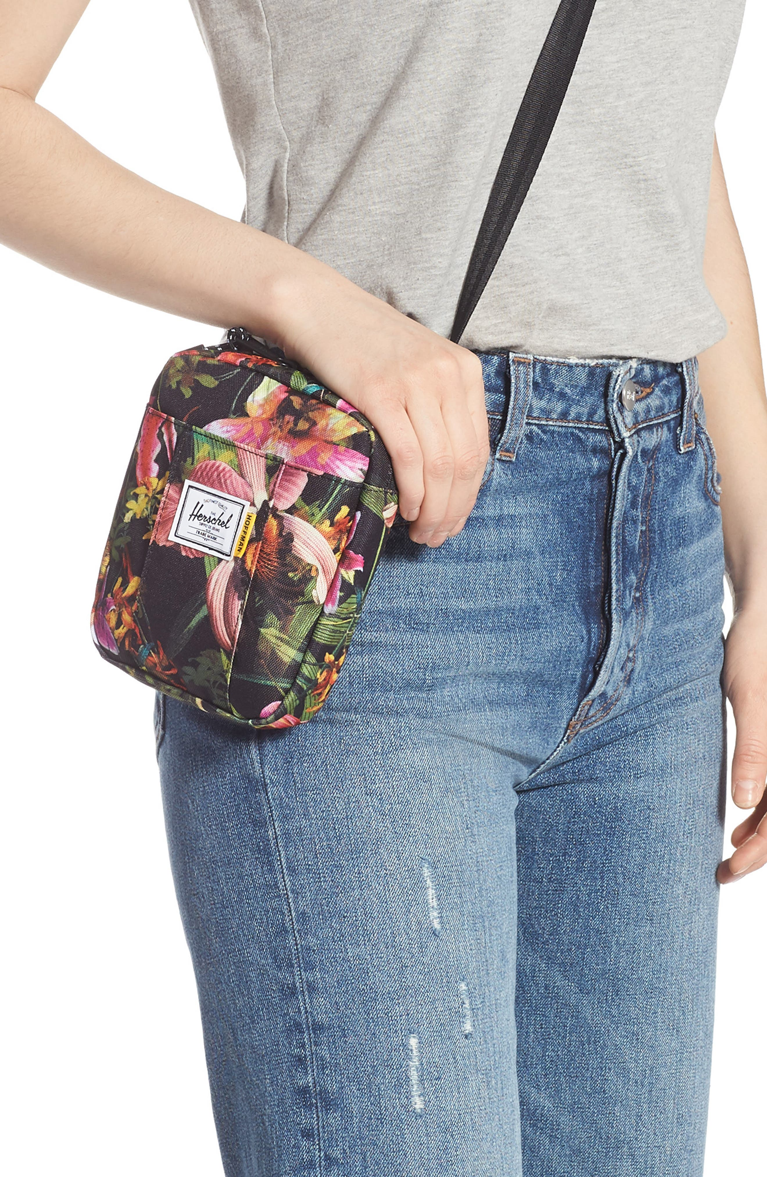 HERSCHEL SUPPLY CO., Cruz Crossbody Bag, Alternate thumbnail 2, color, JUNGLE HOFFMAN