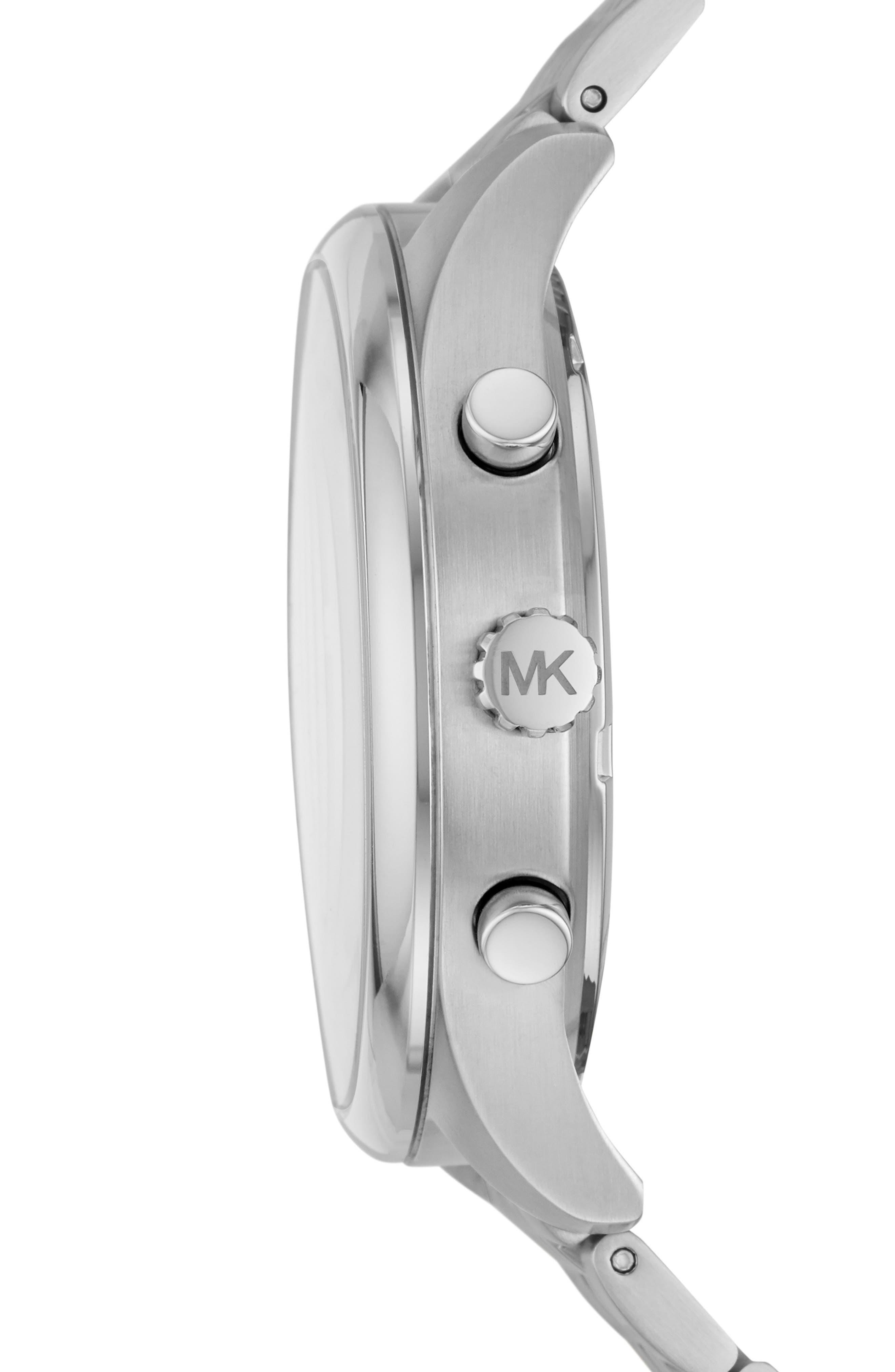 MICHAEL KORS, Merrick Bracelet Watch, 42mm, Alternate thumbnail 2, color, ROSE GOLD/ SILVER