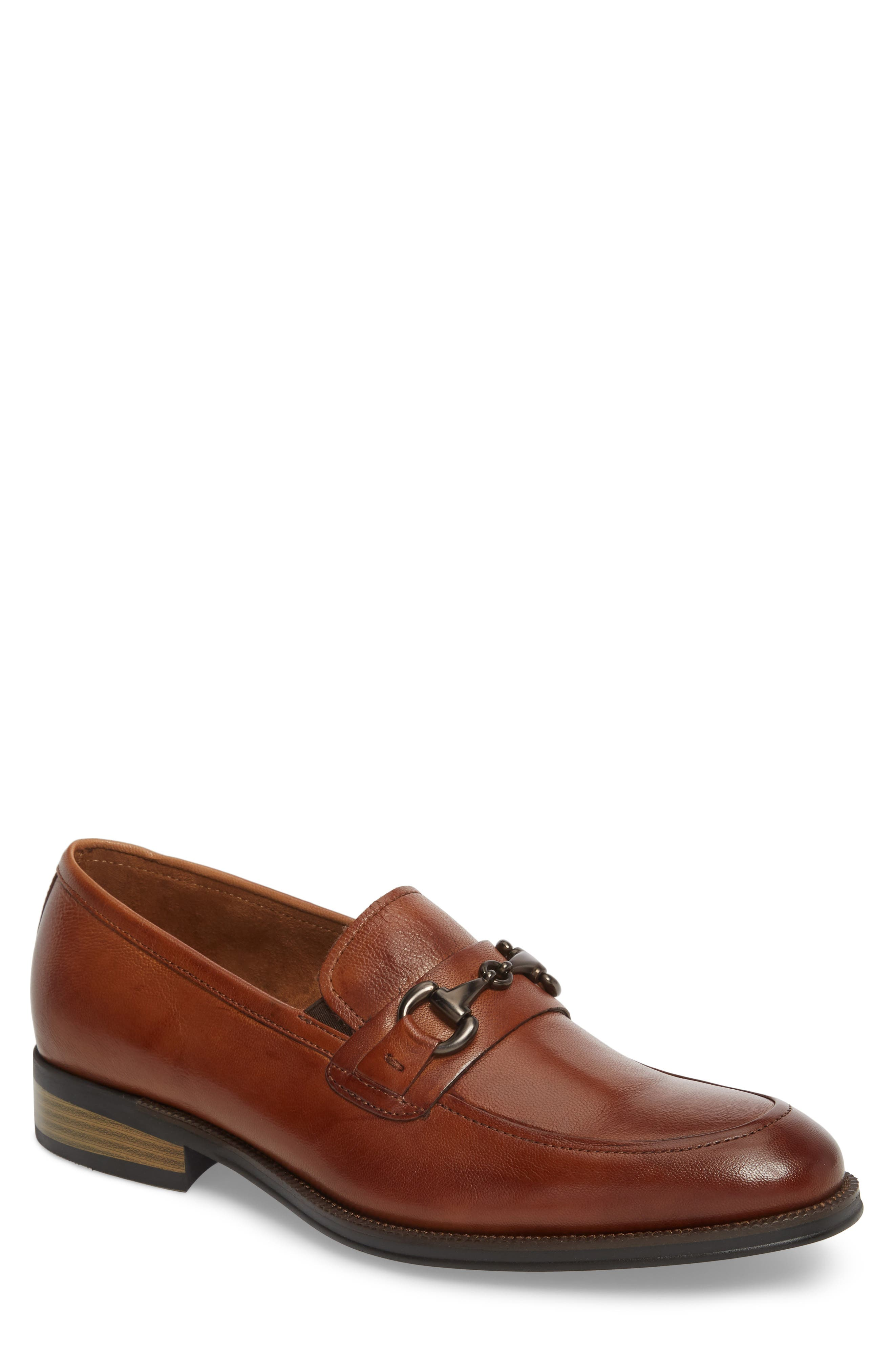 KENNETH COLE NEW YORK, Brock Bit Loafer, Main thumbnail 1, color, COGNAC LEATHER