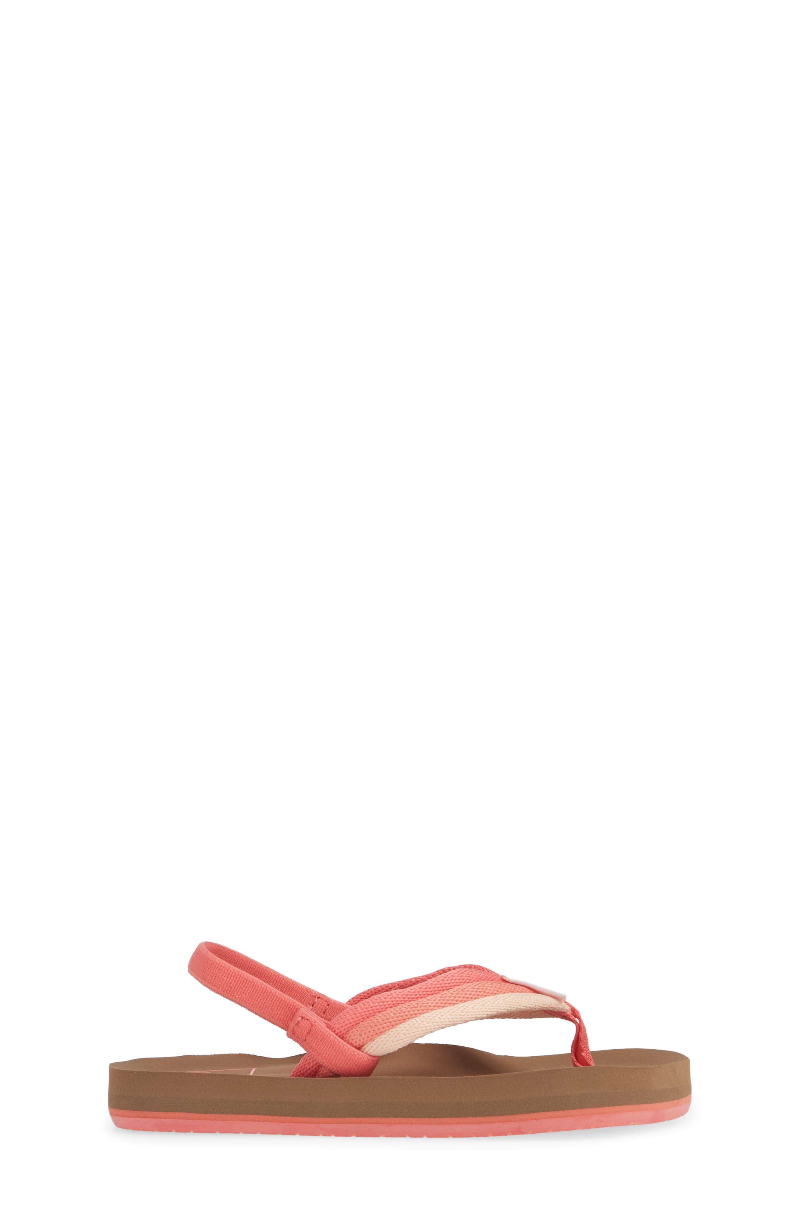 REEF, Little Ahi Beach Thong Sandal, Alternate thumbnail 3, color, RASPBERRY