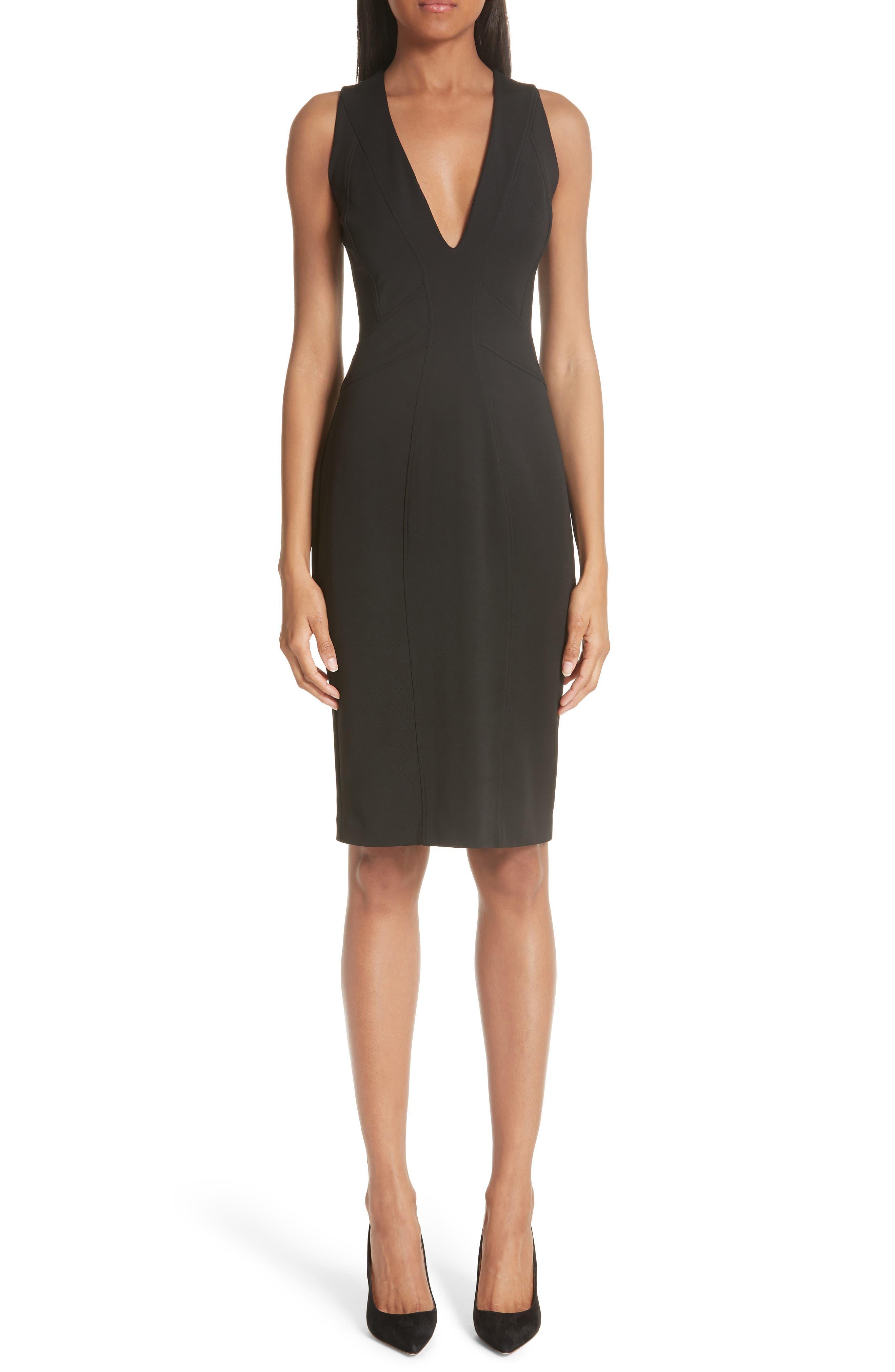 ZAC ZAC POSEN, Sirena Body-Con Dress, Main thumbnail 1, color, BLACK