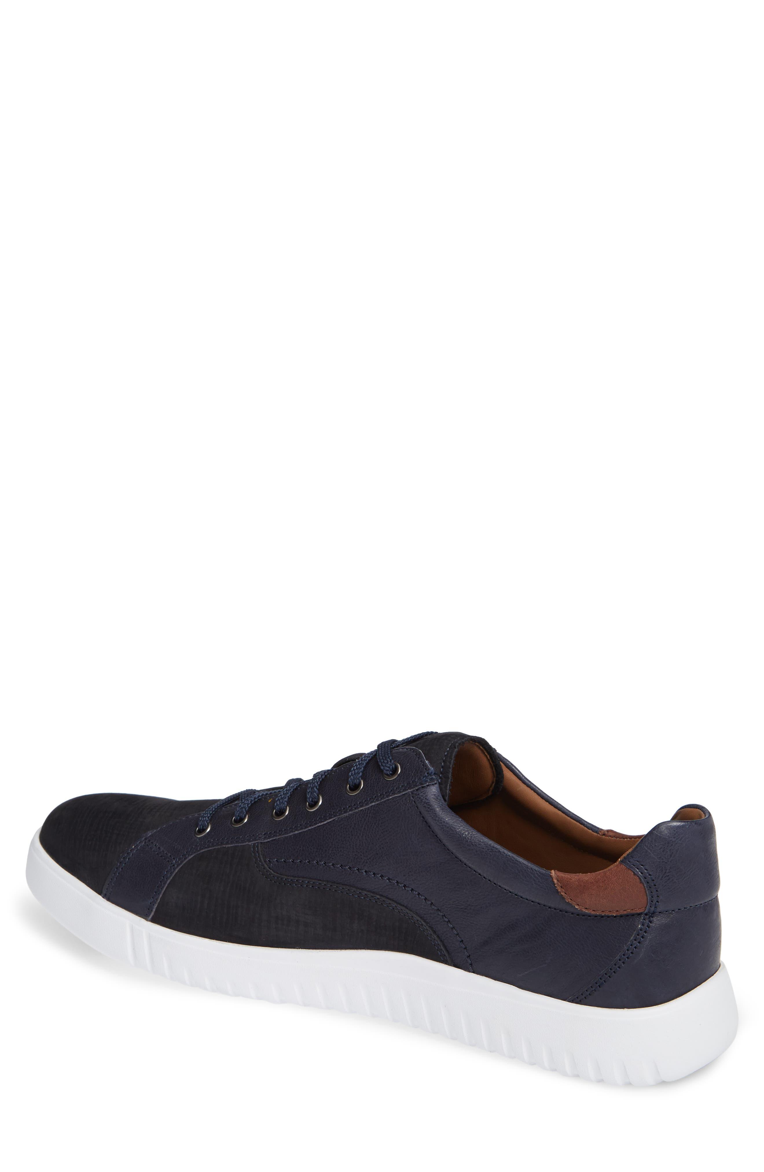 JOHNSTON & MURPHY, McFarland Sneaker, Alternate thumbnail 2, color, NAVY NUBUCK
