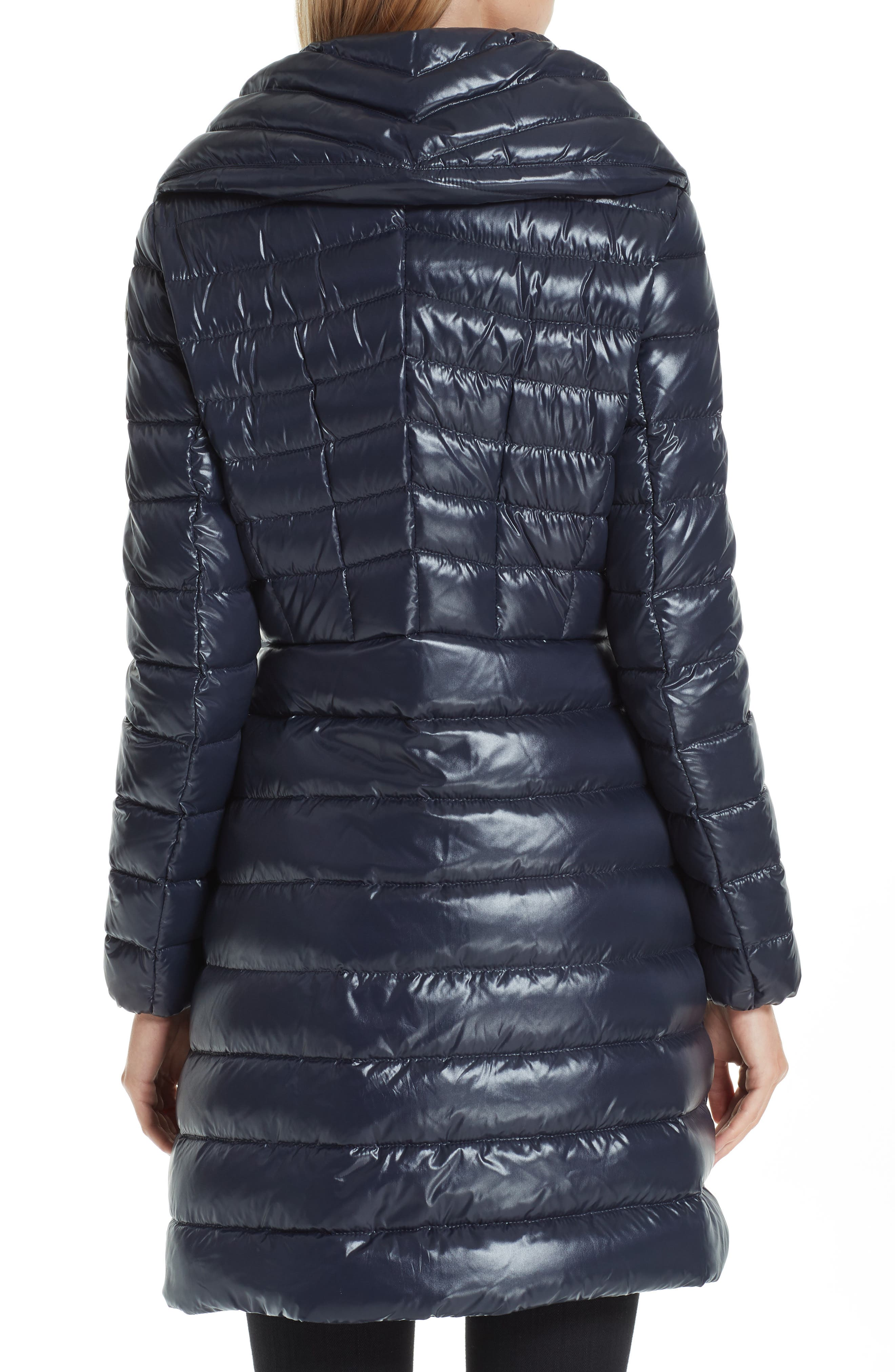 MONCLER, Faucon Quilted Down Coat, Alternate thumbnail 2, color, NAVY