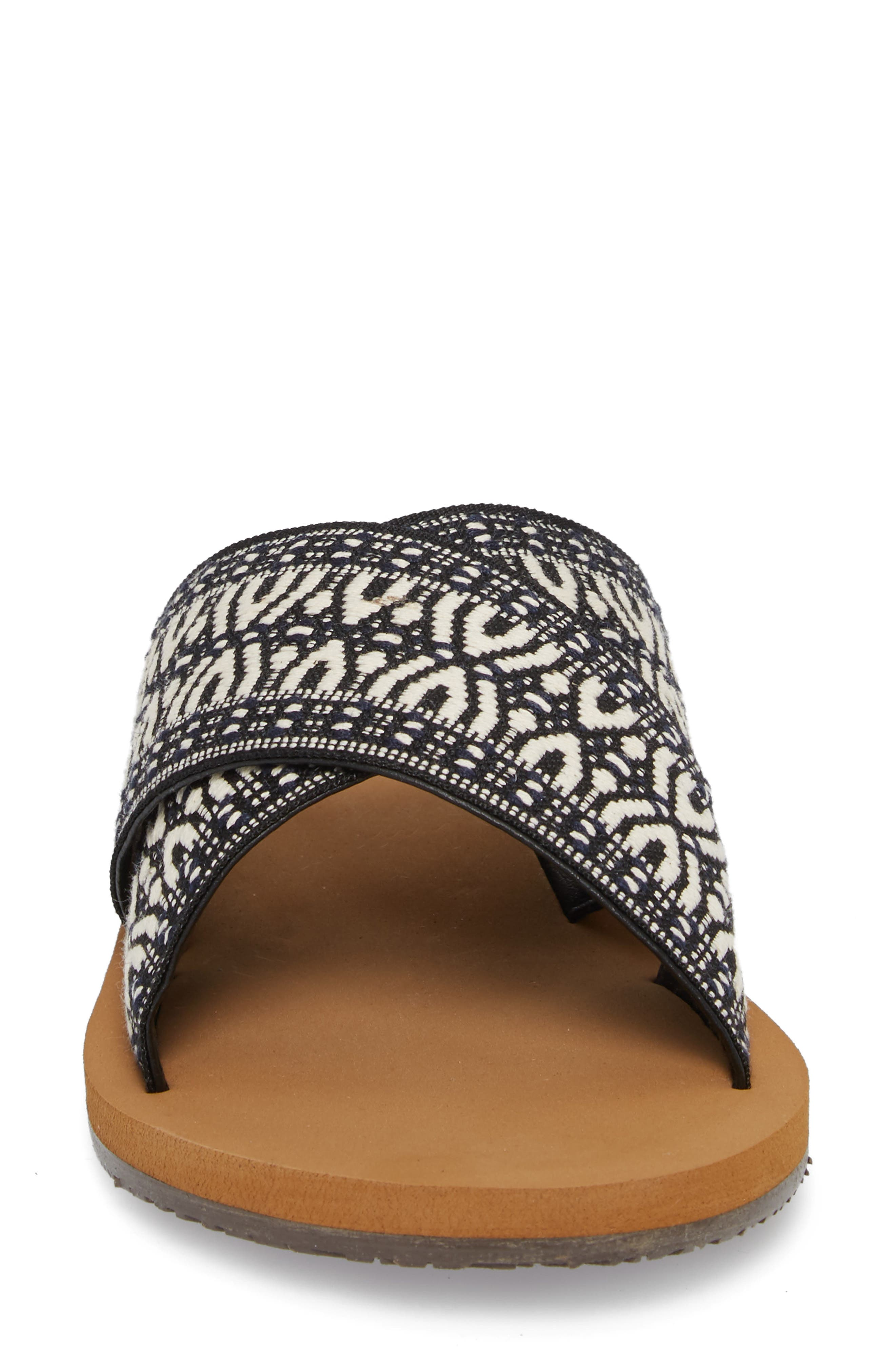 BILLABONG, Surf Bandit Slide Sandal, Alternate thumbnail 4, color, BLACK/ WHITE