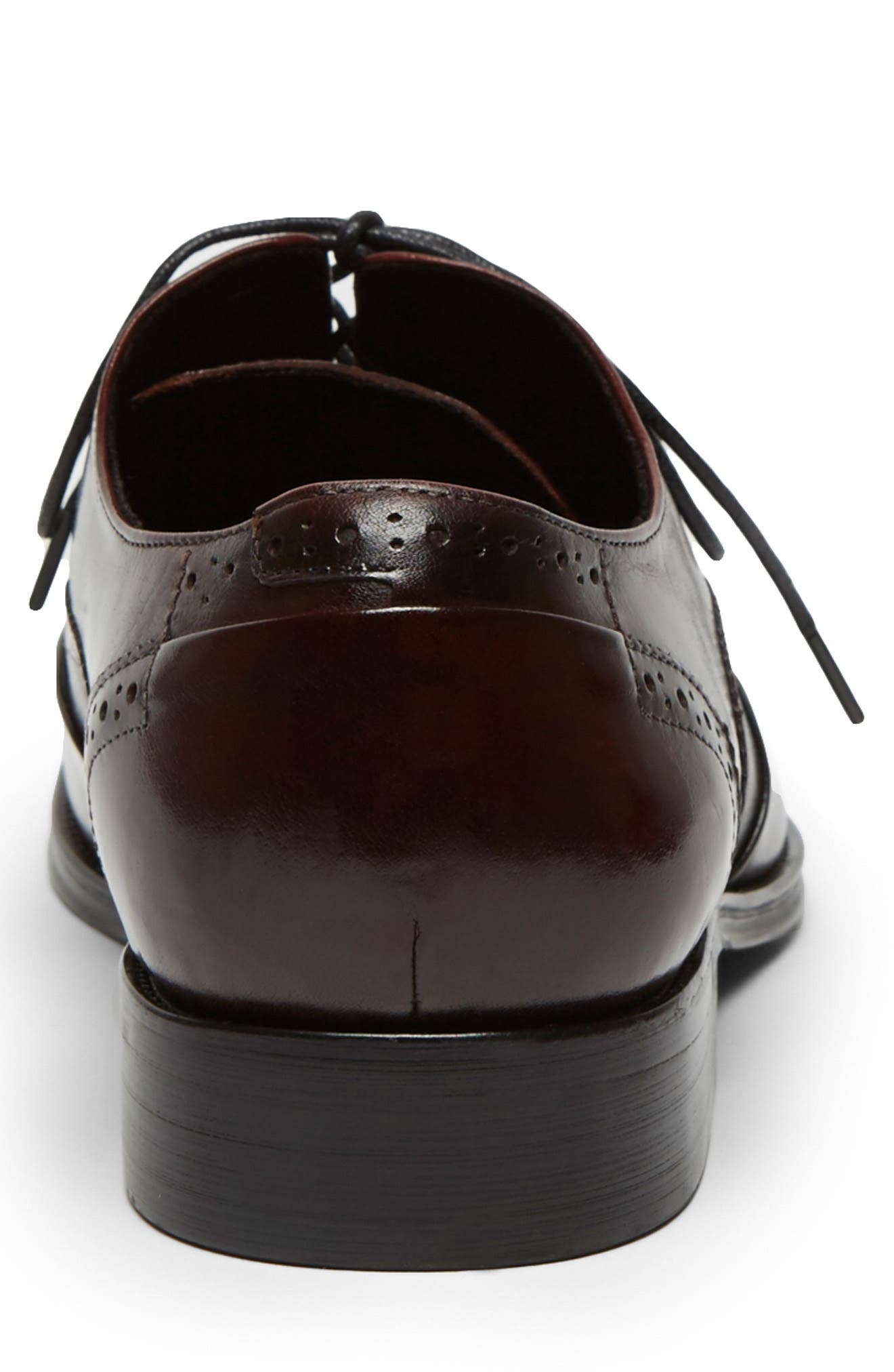 KENNETH COLE NEW YORK, Brant Wingtip, Alternate thumbnail 3, color, BORDEAUX LEATHER