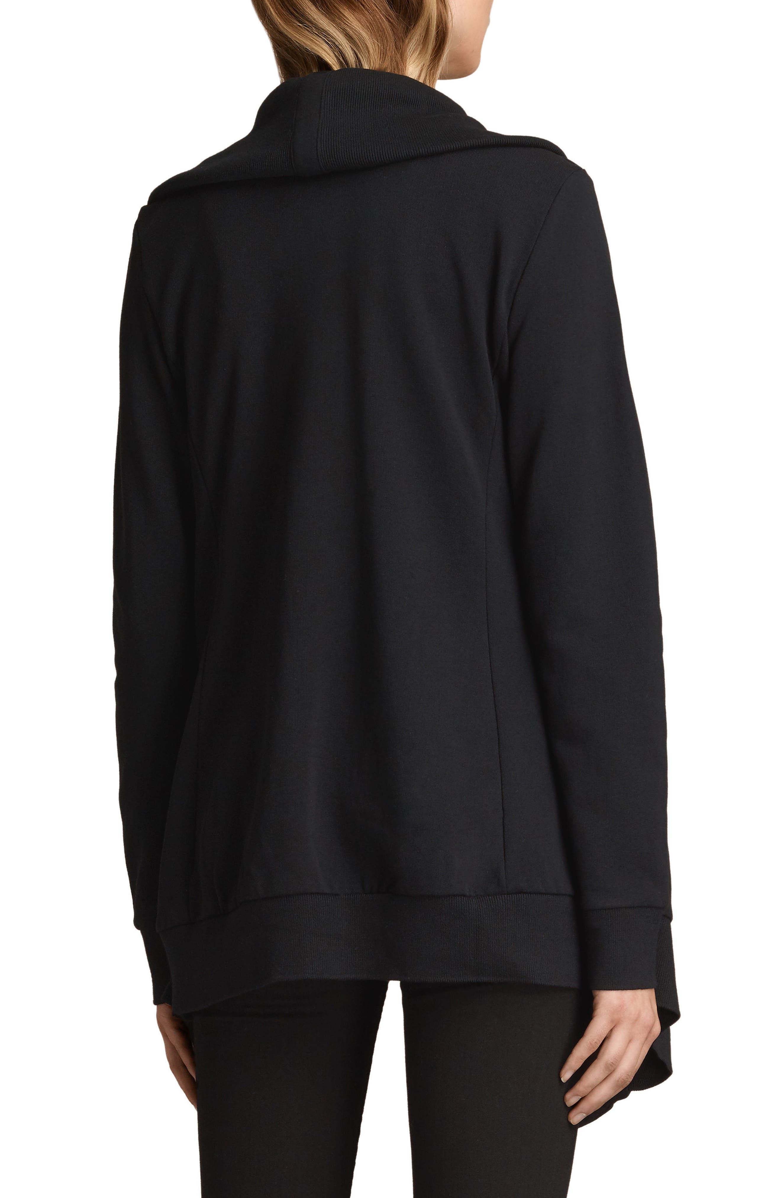 ALLSAINTS, Dahlia Sweatshirt, Alternate thumbnail 2, color, BLACK