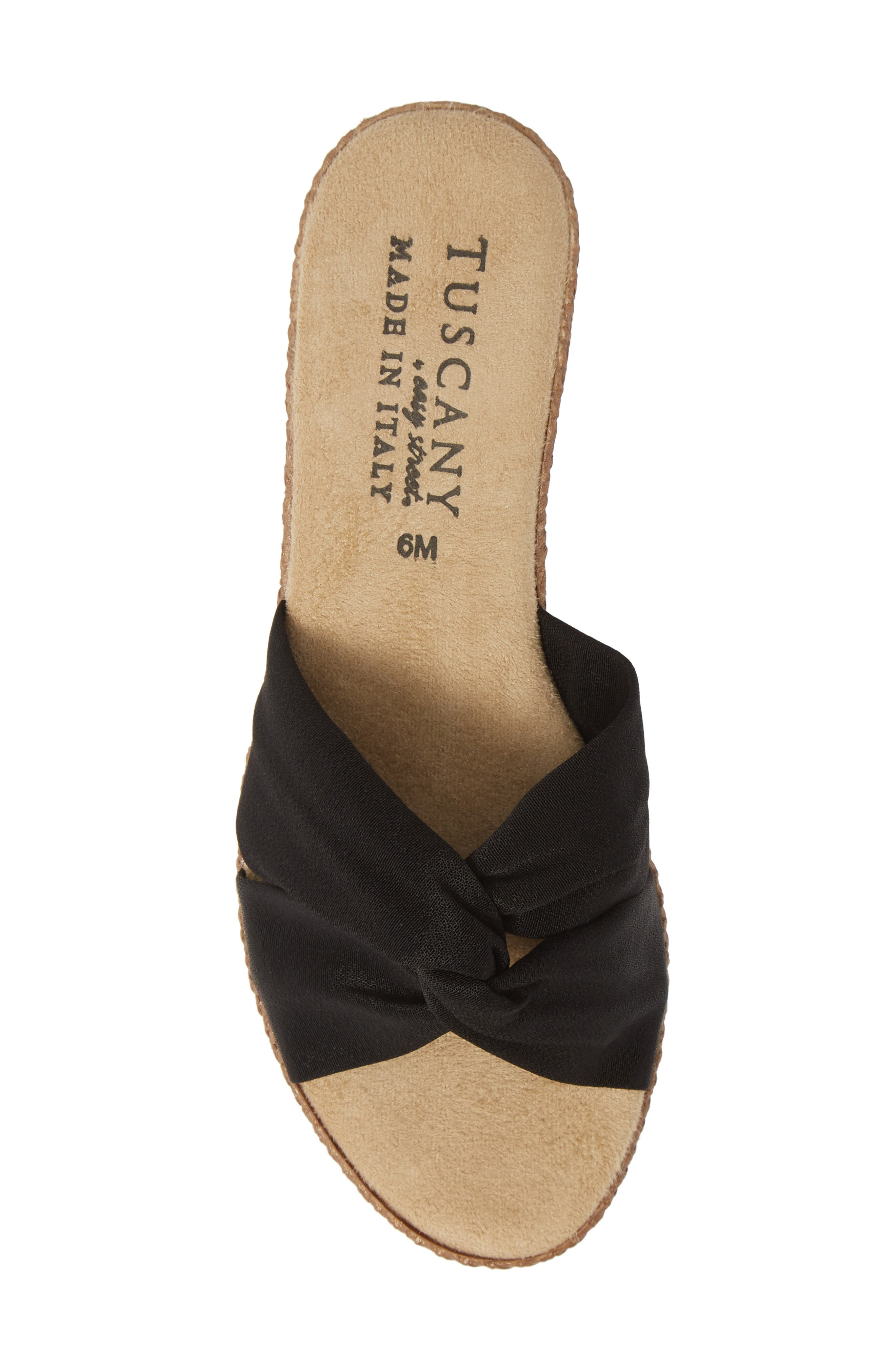 TUSCANY BY EASY STREET<SUP>®</SUP>, Dinah Platform Wedge Sandal, Alternate thumbnail 5, color, BLACK FABRIC