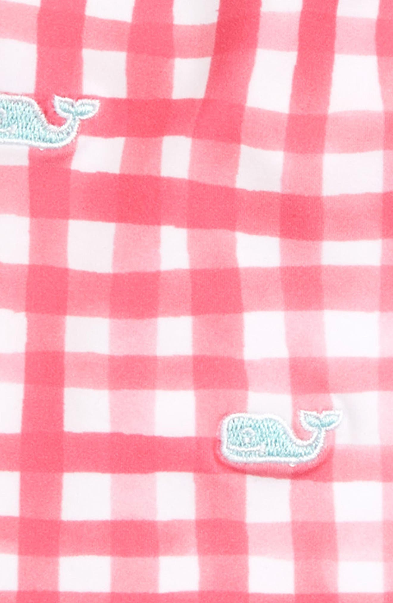 VINEYARD VINES, Painted Gingham Two-Piece Tankini Swimsuit, Alternate thumbnail 2, color, SWEET TAFFY