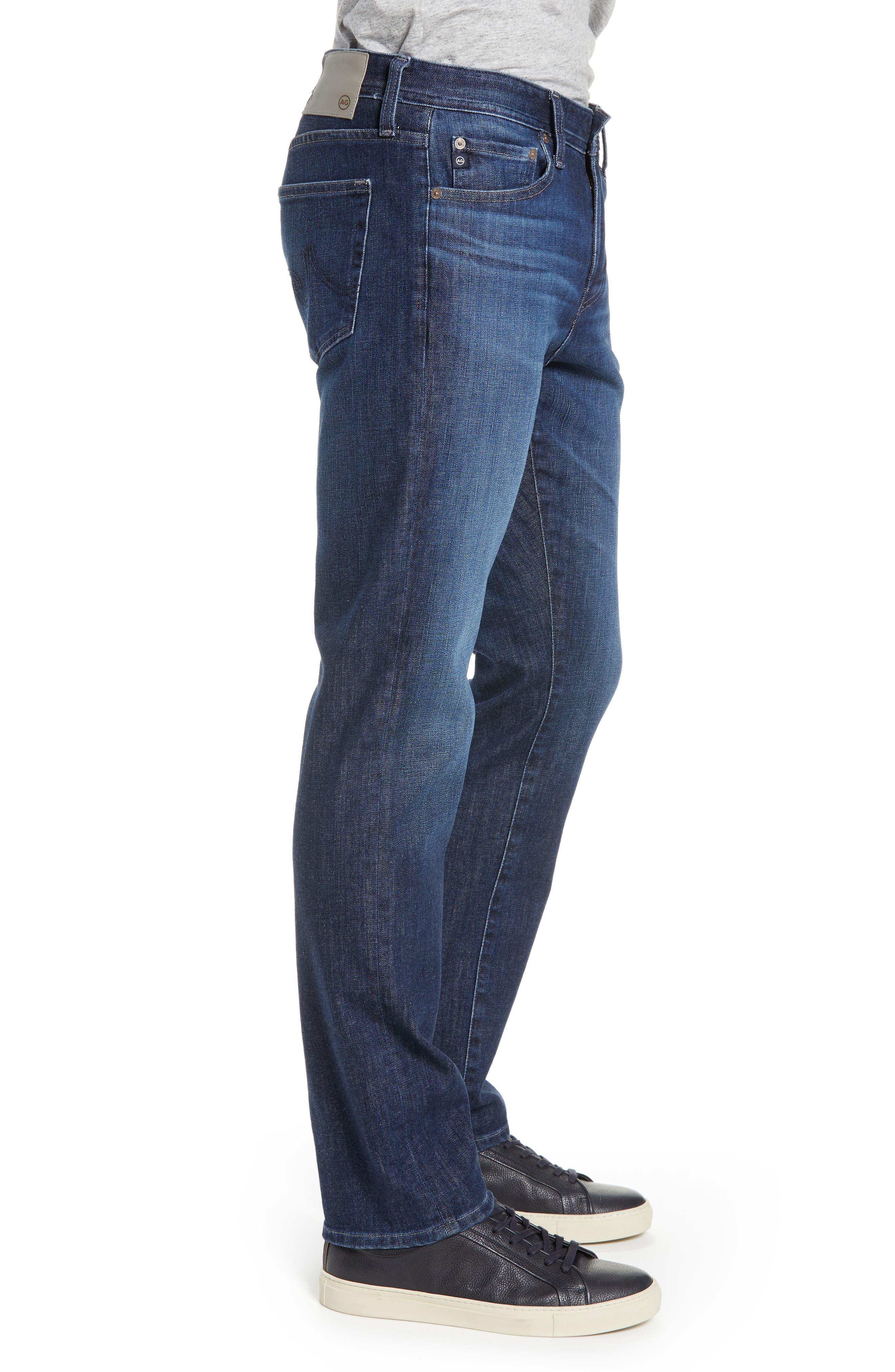 AG, Everett Slim Straight Leg Jeans, Alternate thumbnail 4, color, GAMMA