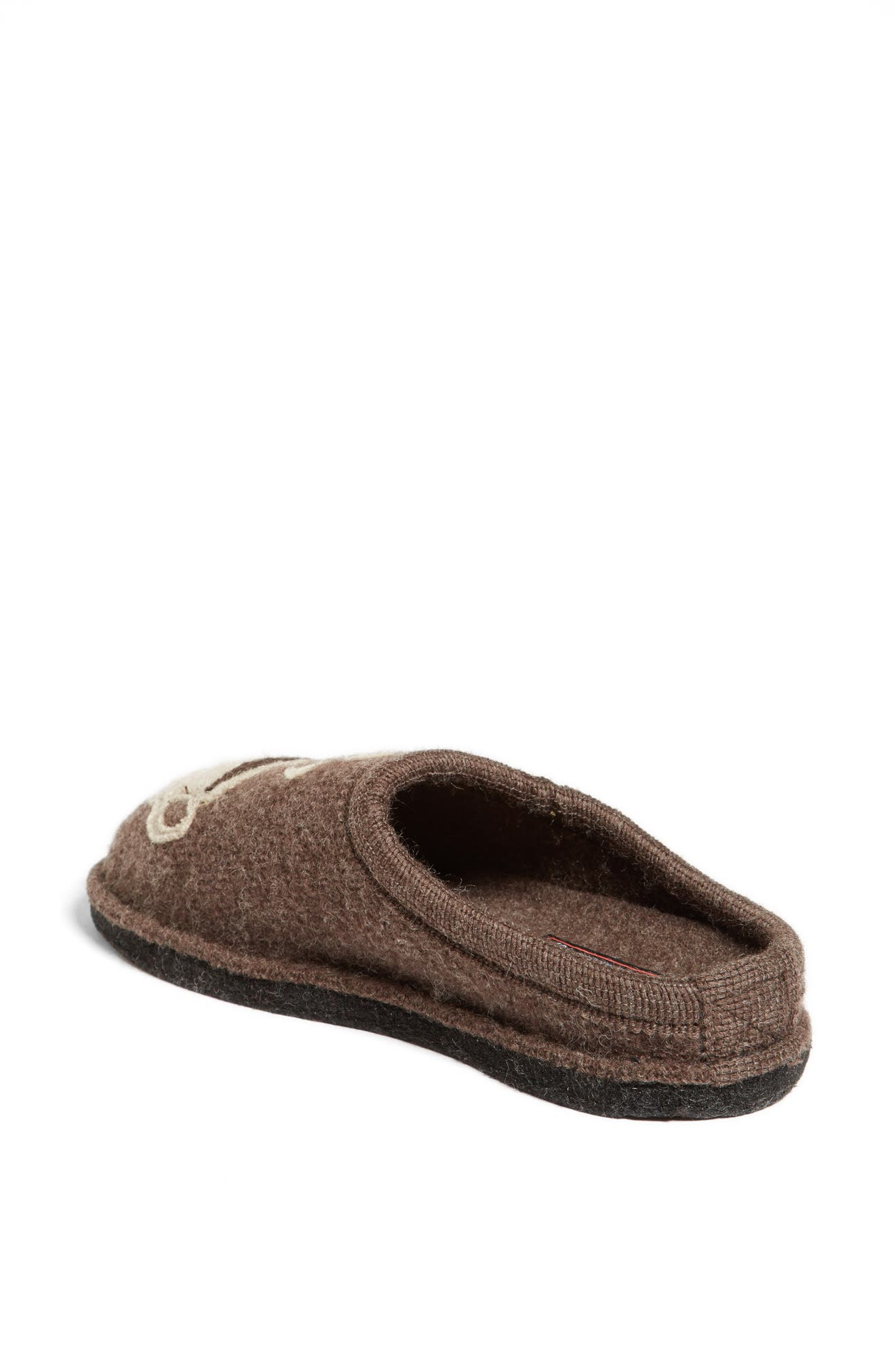 HAFLINGER, 'Coffee' Slipper, Main thumbnail 1, color, EARTH WOOL