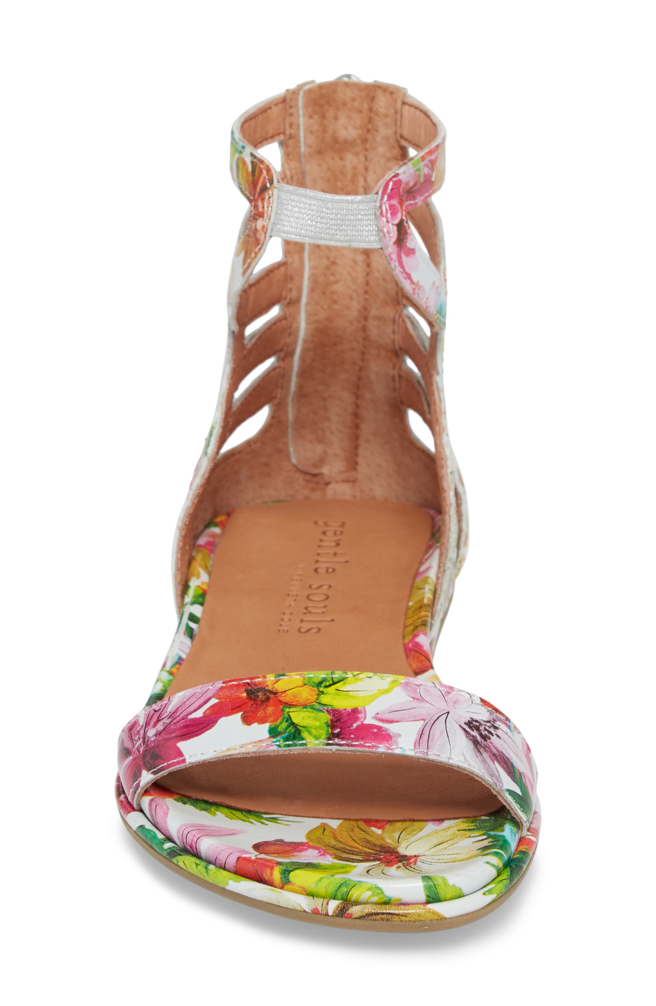 GENTLE SOULS BY KENNETH COLE, Larissa Sandal, Alternate thumbnail 4, color, PALM PRINTED LEATHER