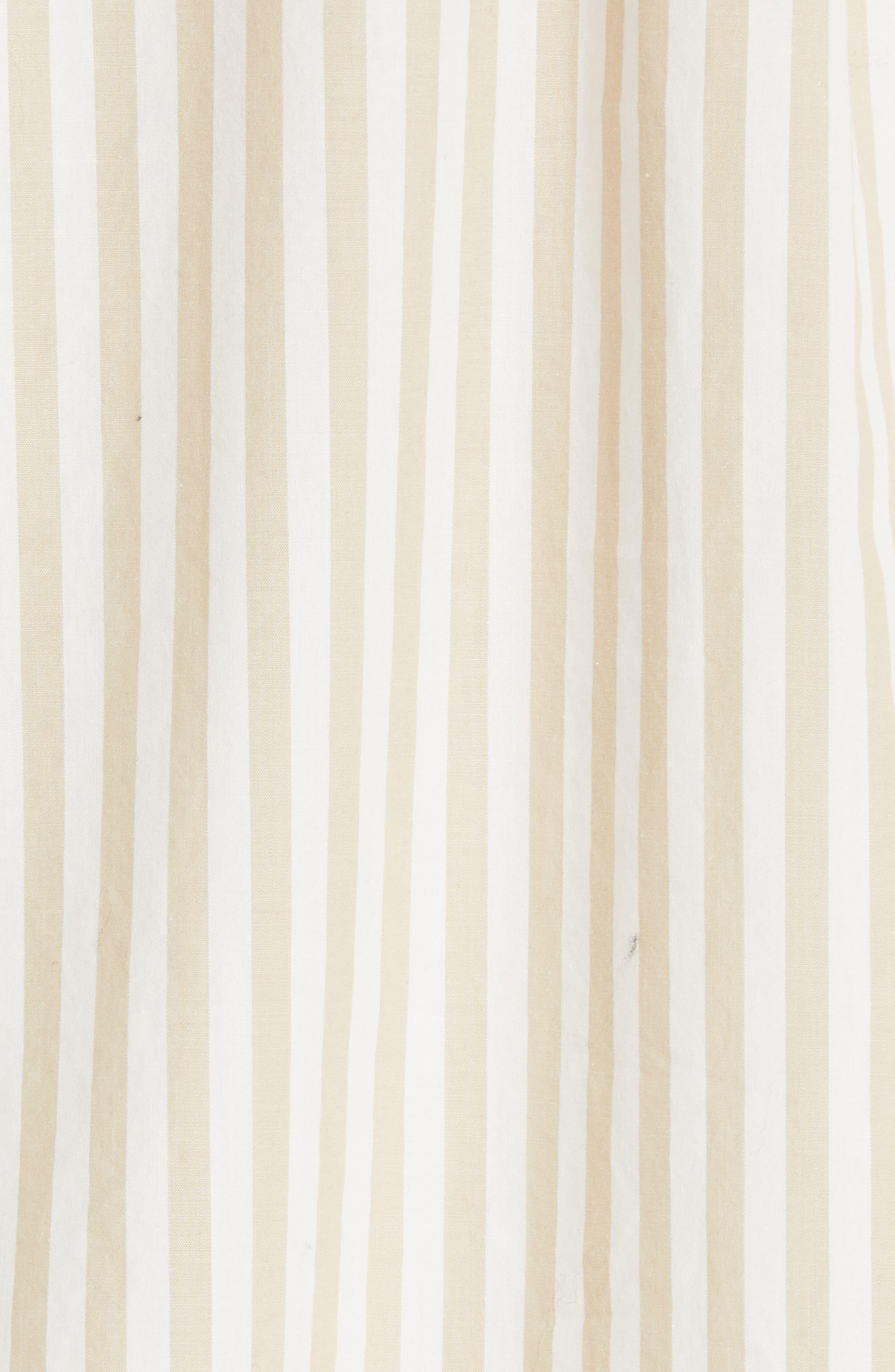 NILI LOTAN, Noa Stripe Shirt, Alternate thumbnail 5, color, TAN STRIPE