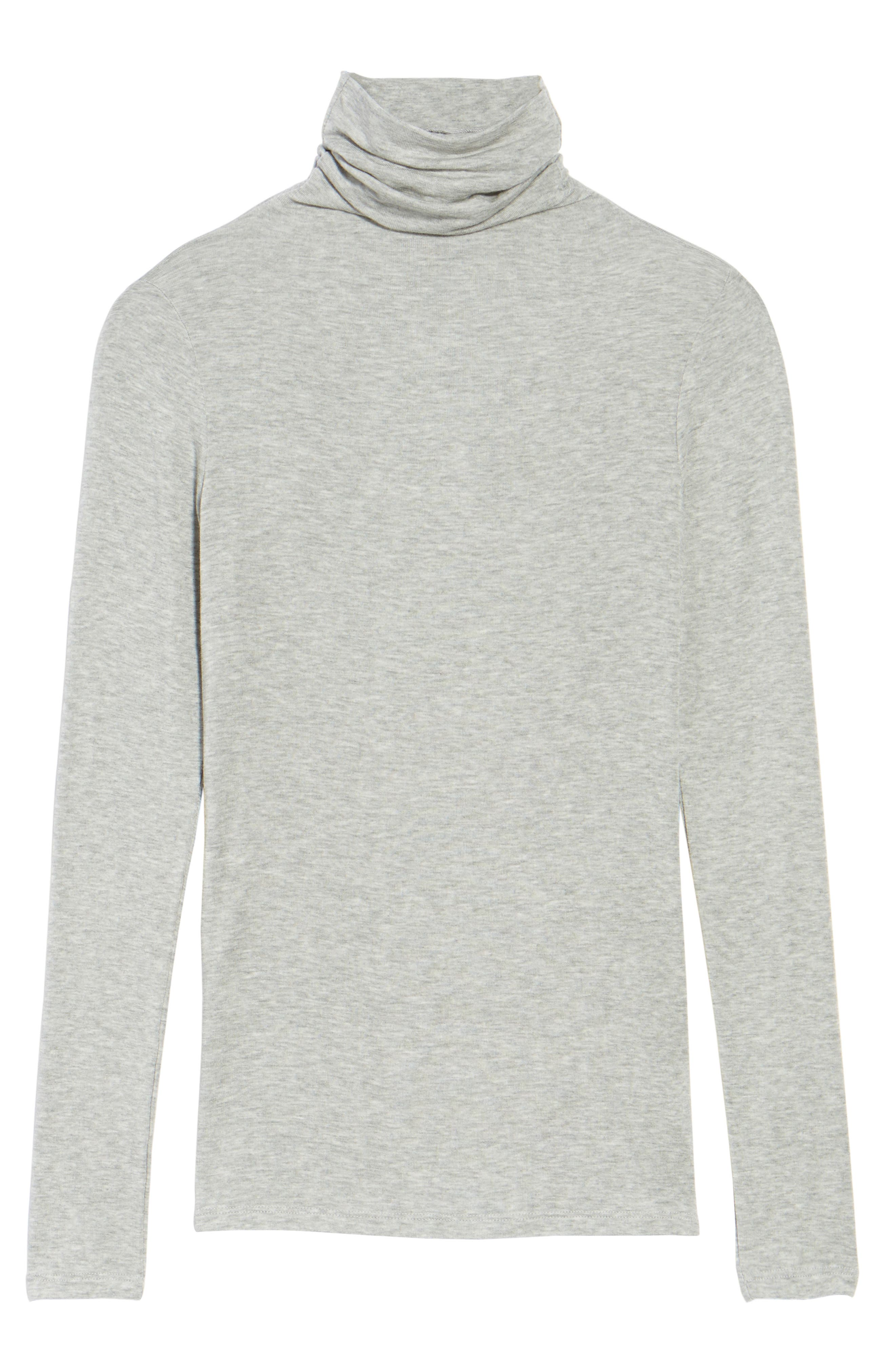 CHELSEA28, Layering Turtleneck, Alternate thumbnail 6, color, GREY HEATHER