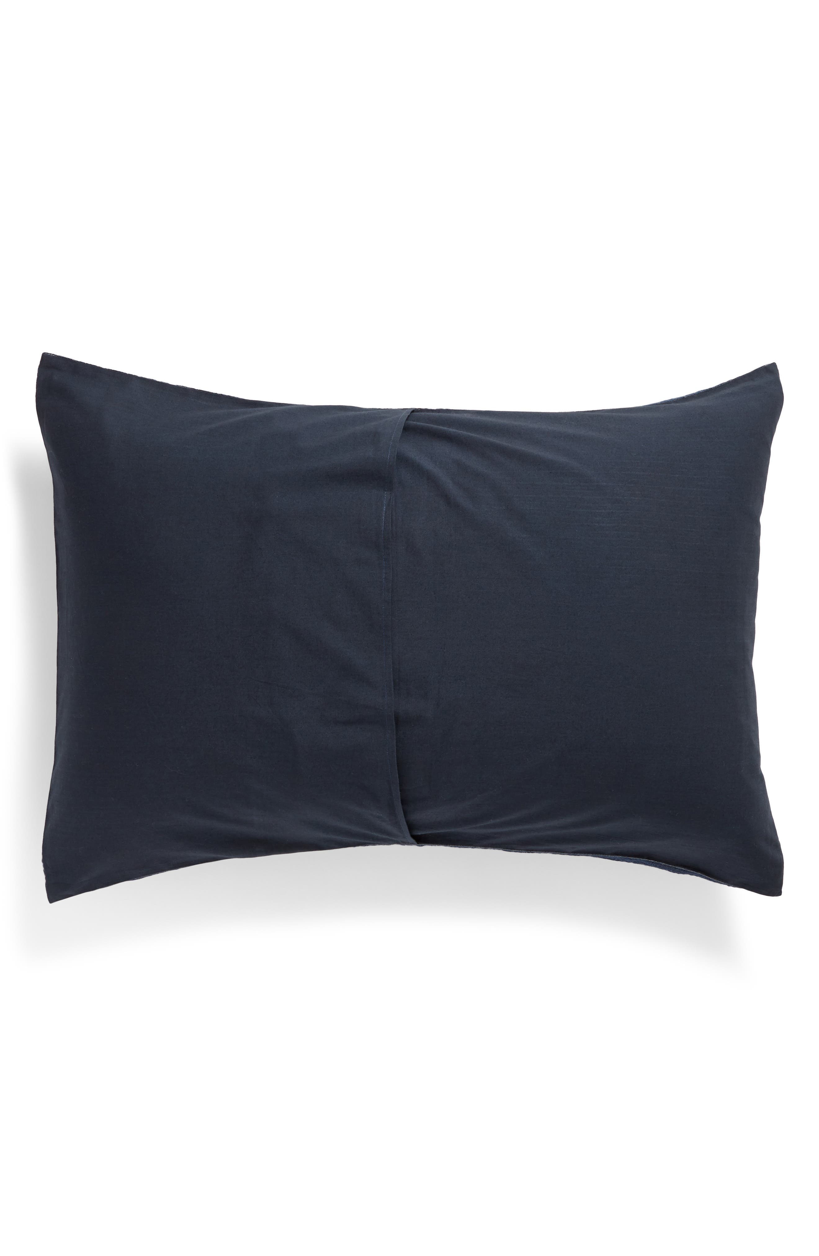 TREASURE & BOND, Stripe Texture Sham, Alternate thumbnail 2, color, NAVY BLUE