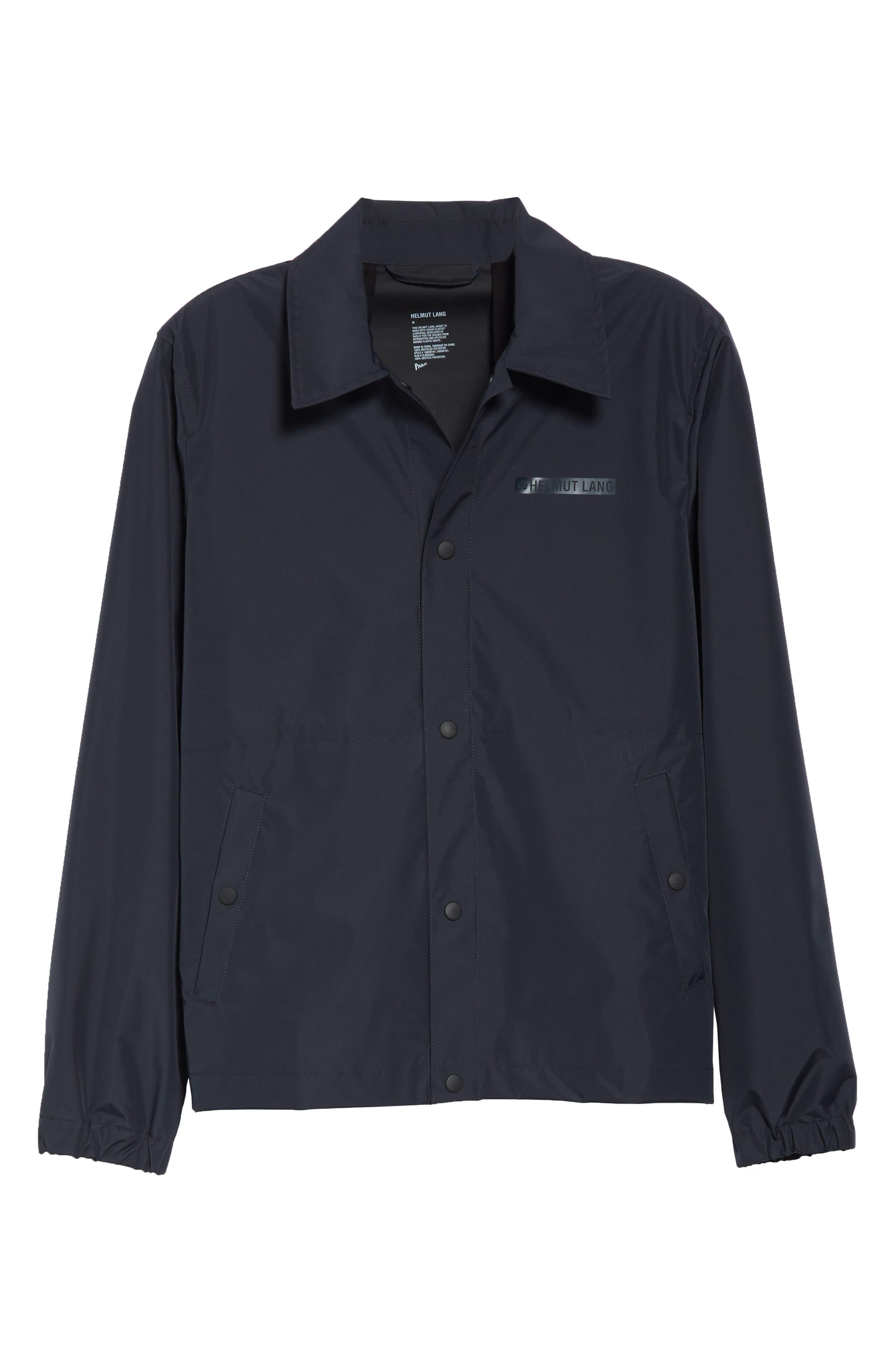 HELMUT LANG, Stadium Coach's Jacket, Alternate thumbnail 5, color, BLACK