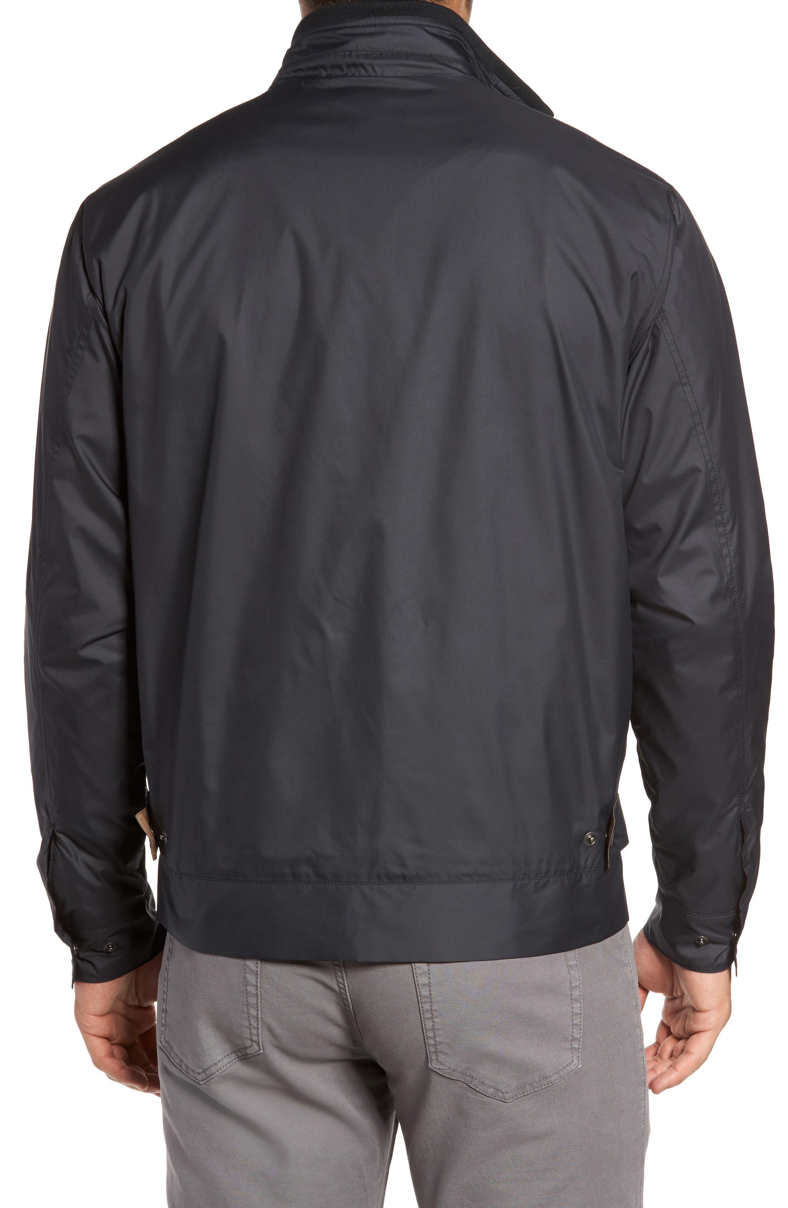 PETER MILLAR, Zip Jacket, Alternate thumbnail 2, color, BLACK